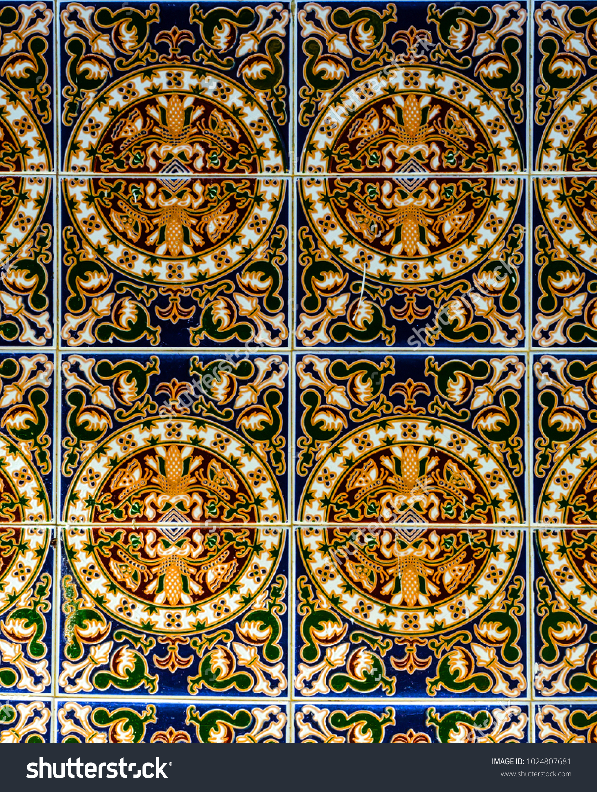 Traditional Ornamental Spanish Decorative Tiles Original Within Spanish Ornamental Wall Decor (View 16 of 30)