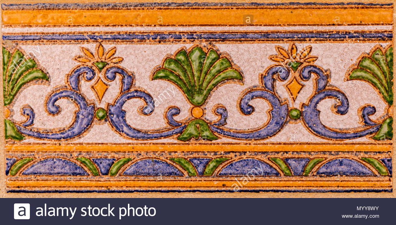 Traditional Ornamental Spanish Decorative Tiles, Original Within Spanish Ornamental Wall Decor (View 29 of 30)