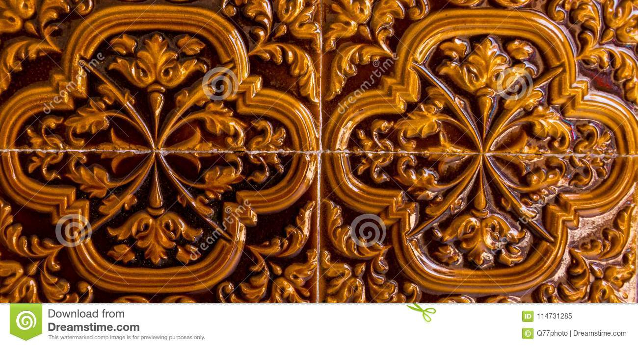 Traditional Ornamental Spanish Decorative Tiles, Original Within Spanish Ornamental Wall Decor (View 28 of 30)