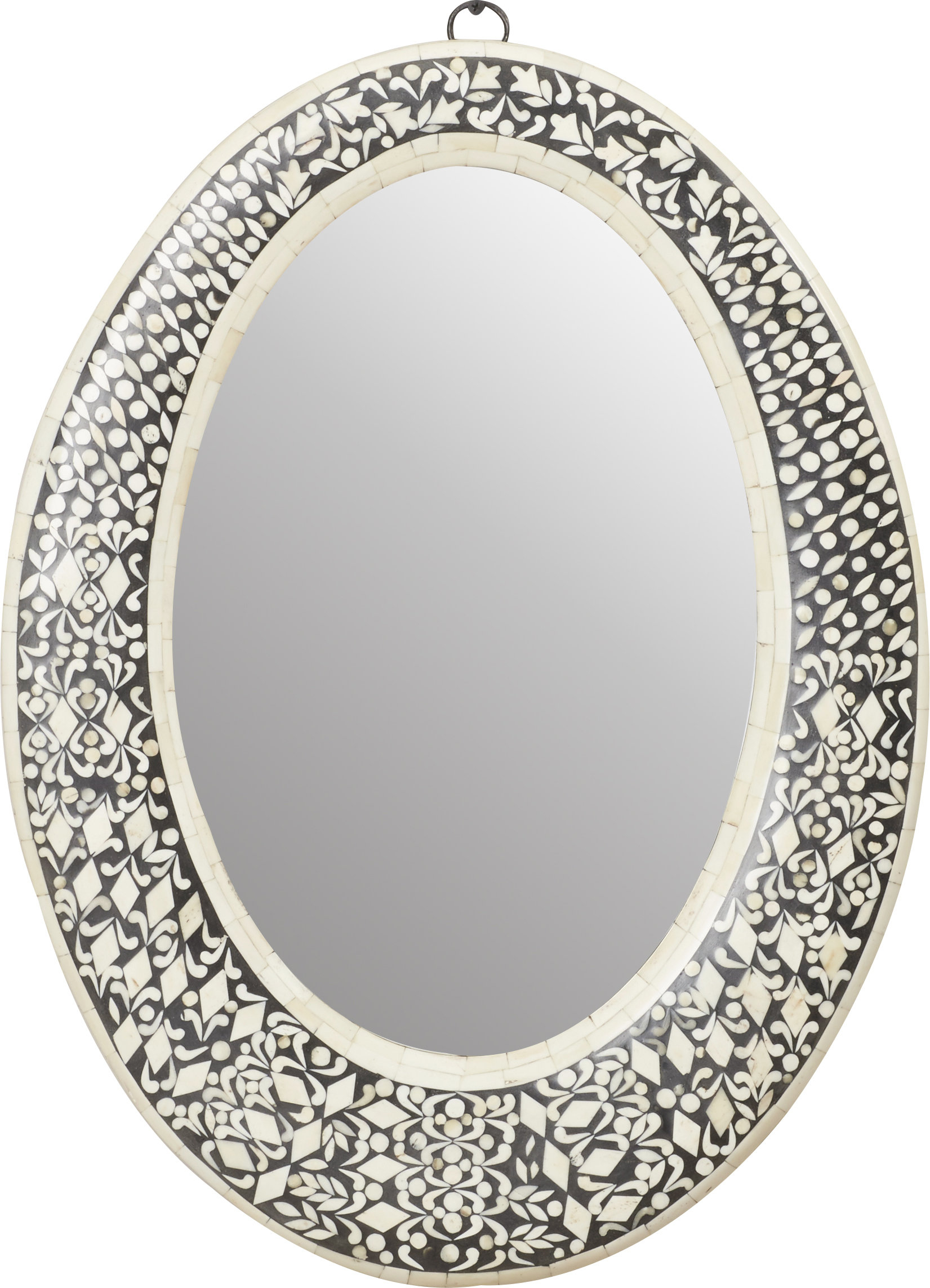 Traditional Oval Wall Mirror Intended For Sajish Oval Crystal Wall Mirrors (View 6 of 30)