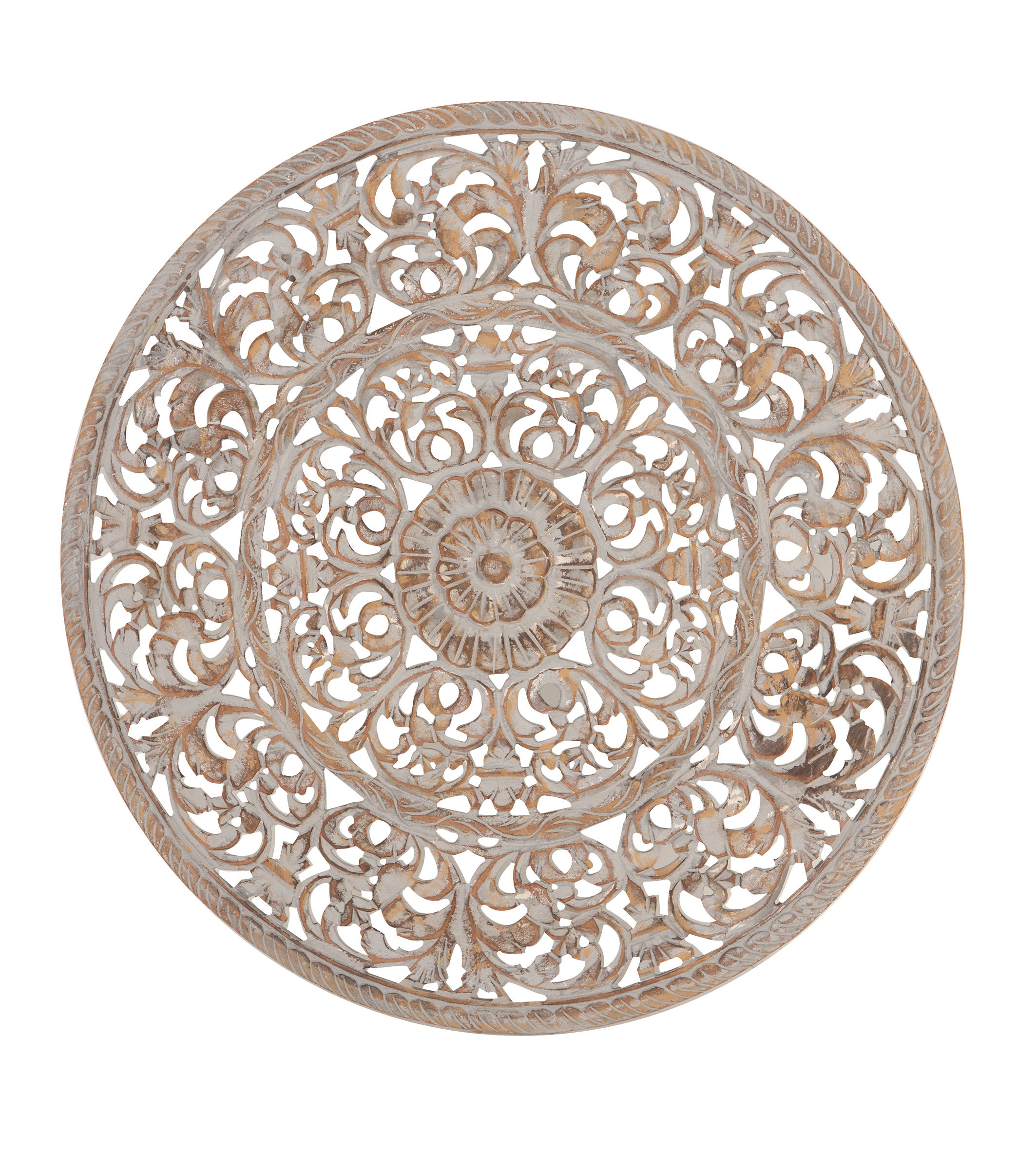 Traditional Round Ornate Carved Wall Decor pertaining to Ornate Scroll Wall Decor (Image 25 of 30)