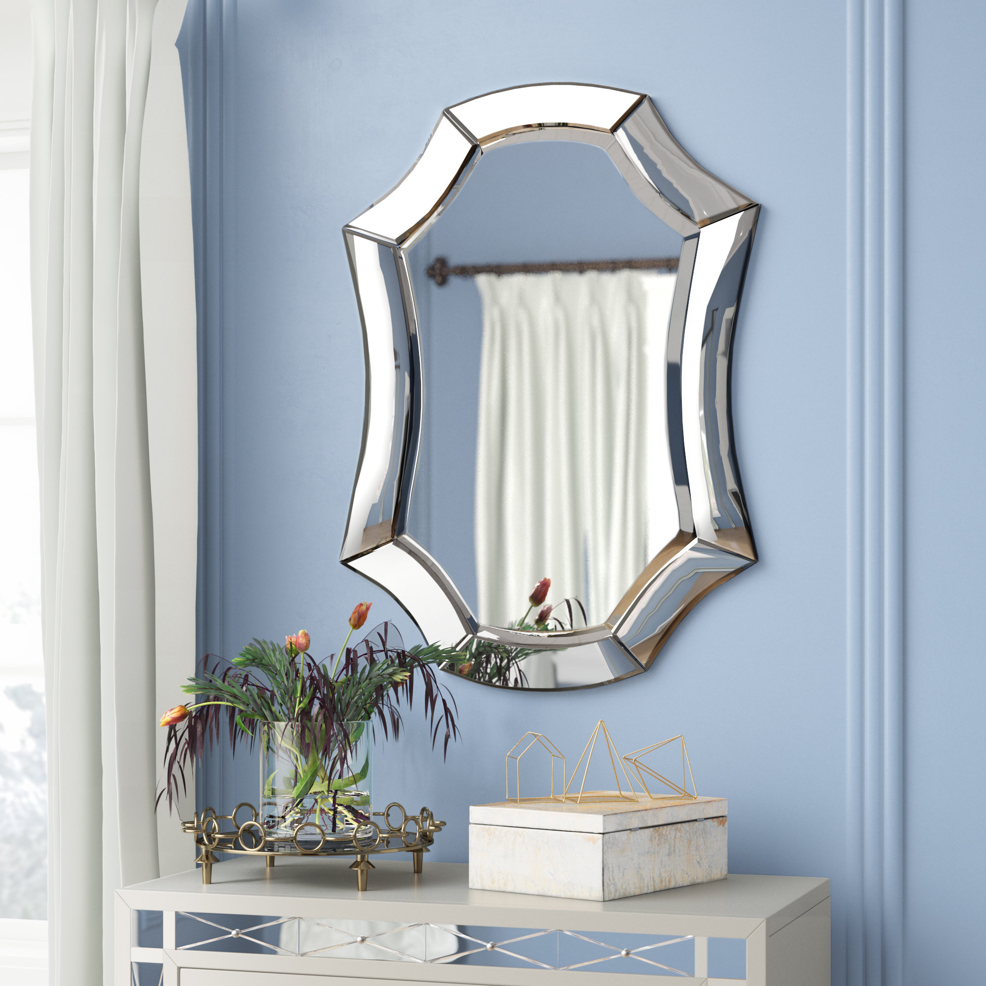 Transitional Beveled Wall Mirror For Guidinha Modern & Contemporary Accent Mirrors (View 28 of 30)