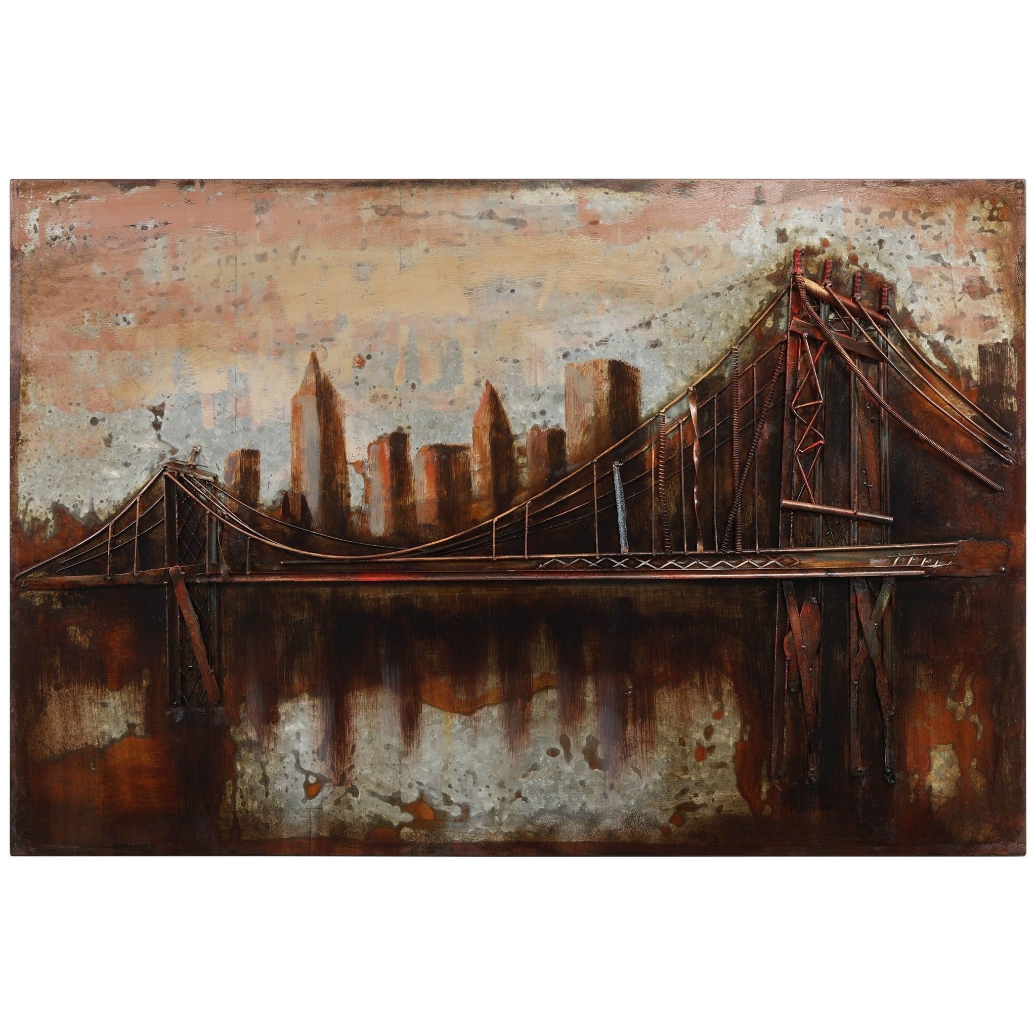 "Transitional, Cityscapes Art Gallery | Shop Our Best Home Pertaining To ""bridge To The City"" Mixed Media Iron Hand Painted Dimensional Wall Decor (View 15 of 30)"