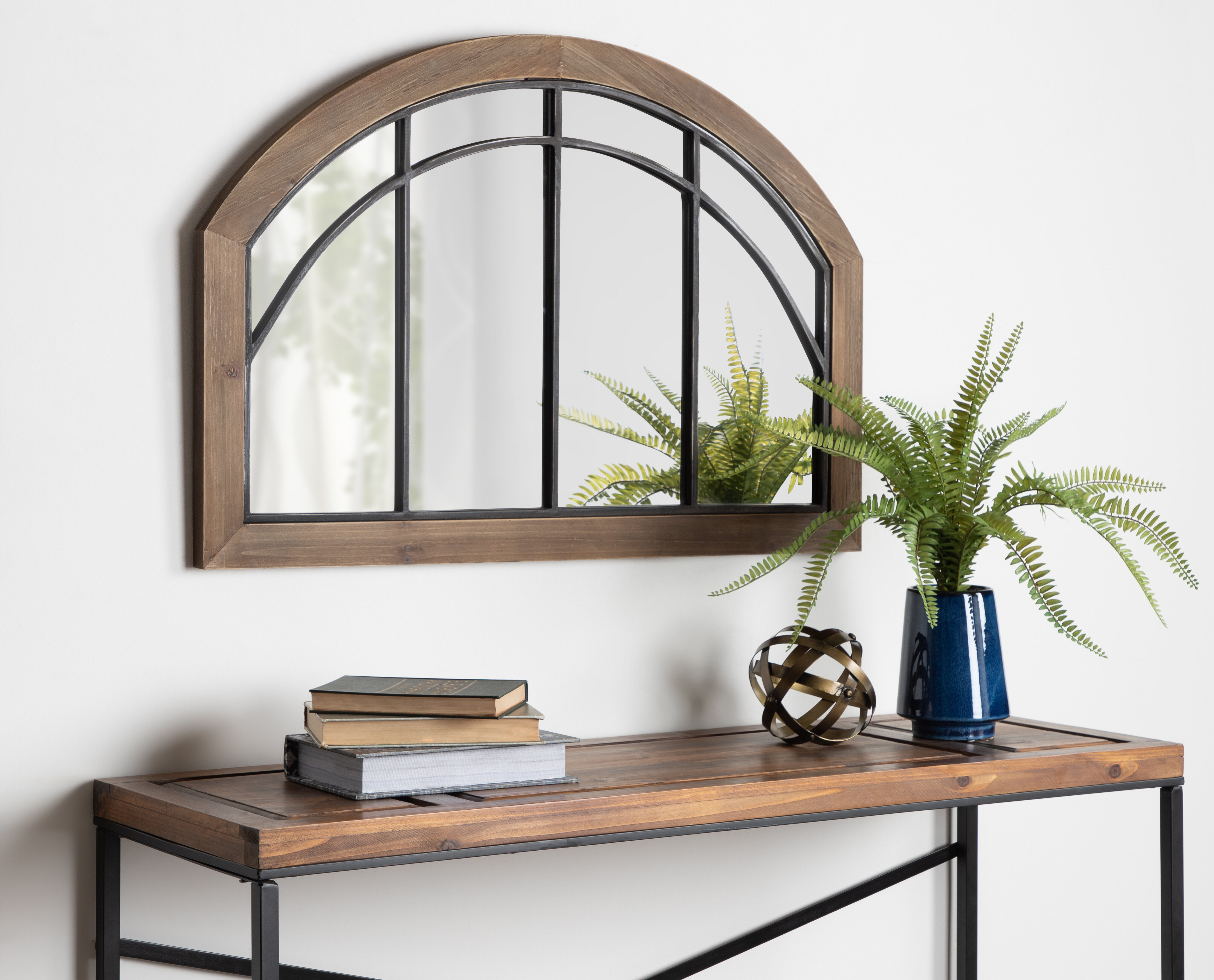 Treadwell Traditional Wood Arch Accent Mirror In Peetz Modern Rustic Accent Mirrors (Image 30 of 30)