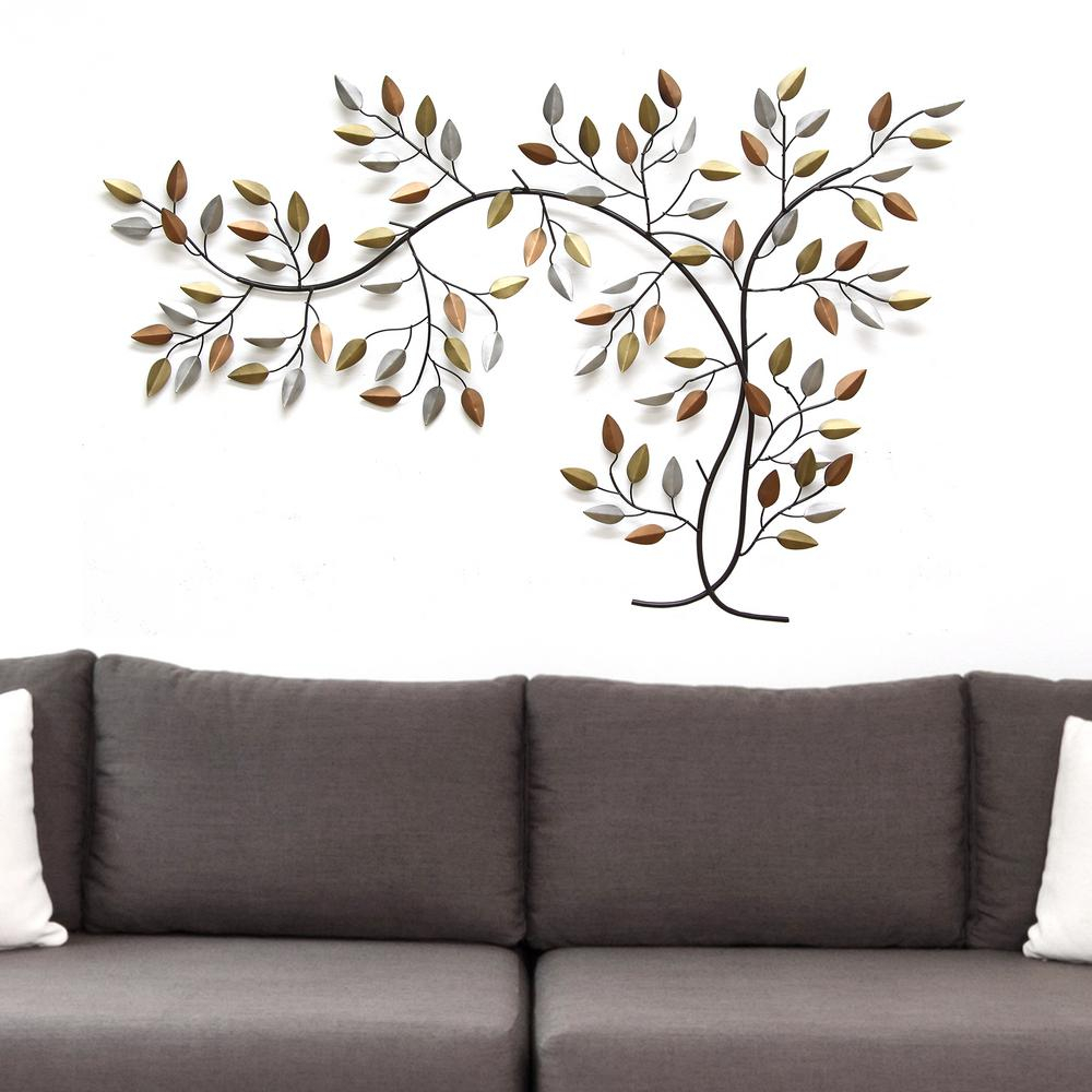 Tree Branch Wall Decor in Flowing Leaves Wall Decor (Image 28 of 30)