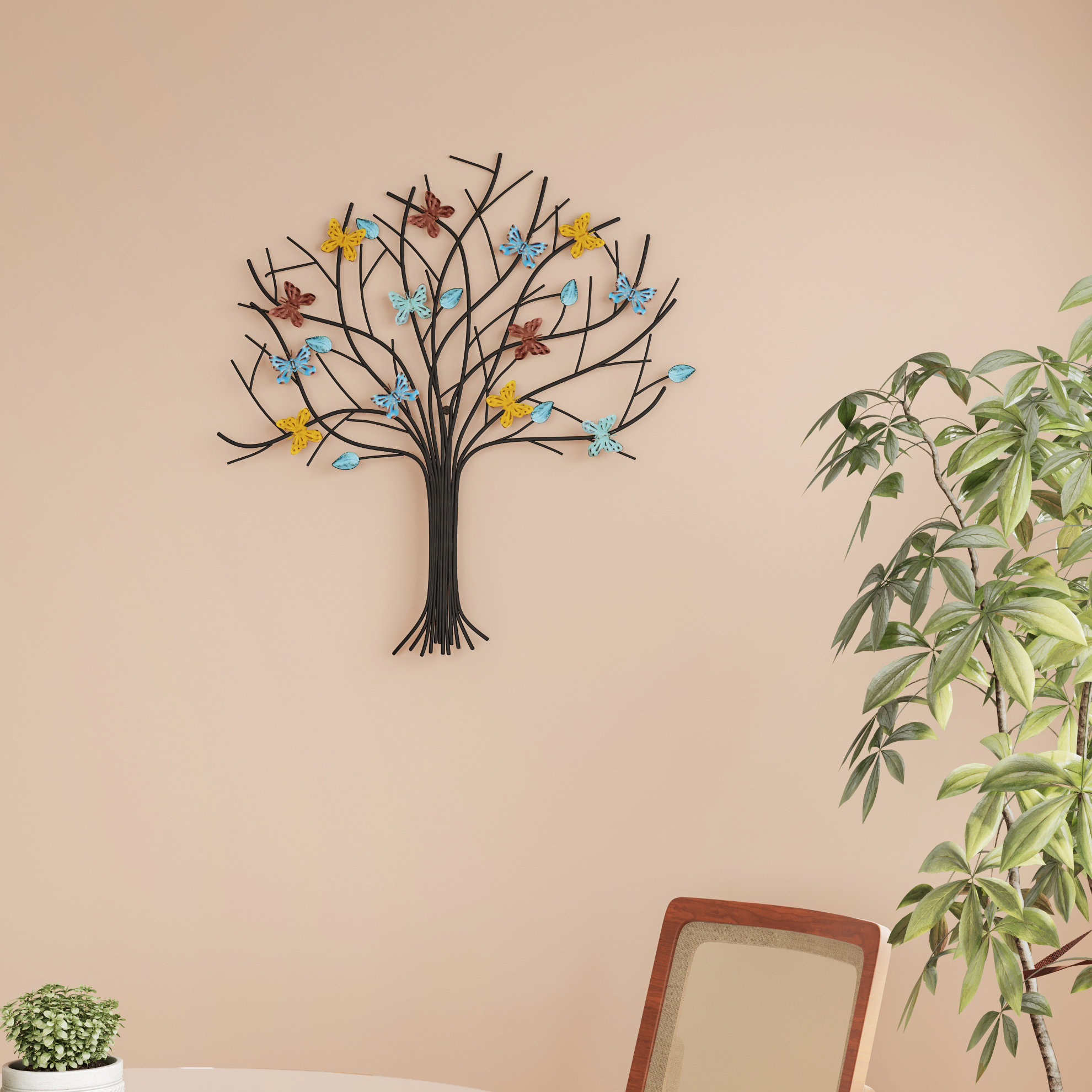 Tree Of Life Metal Wall Decor In Tree Shell Leaves Sculpture Wall Decor (View 20 of 30)