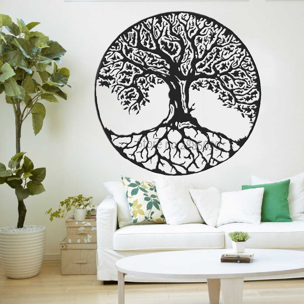 Tree Of Life Wall Decals Vinyl Large Tree Wall Stickers Trees Wall Decor Kabbalah Symbol Art Murals Wallpapers Yoga Room Lc998 Inside Tree Wall Decor (View 2 of 30)