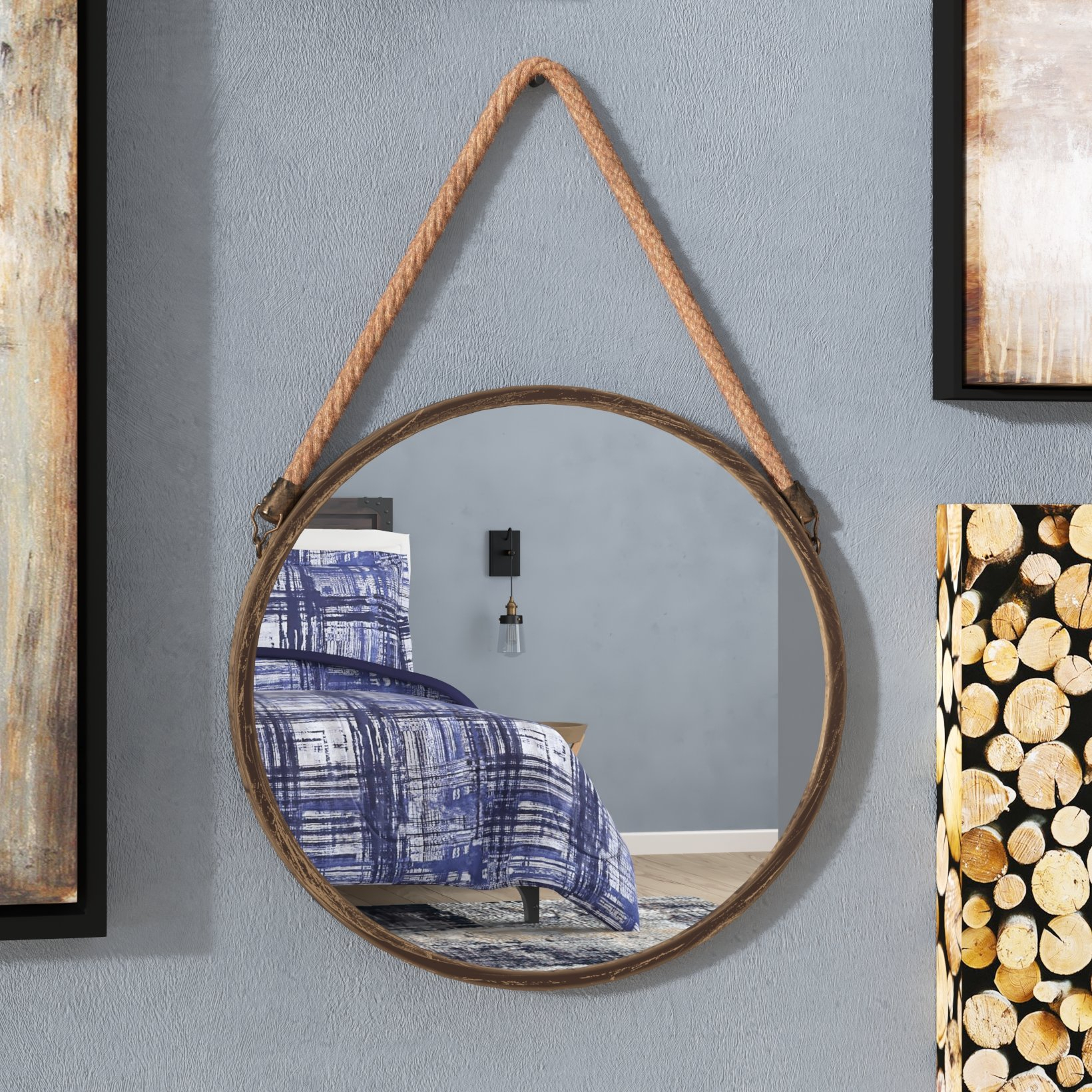 Trent Austin Design Kusilvak Round Accent Mirror & Reviews For Austin Industrial Accent Mirrors (Image 26 of 30)