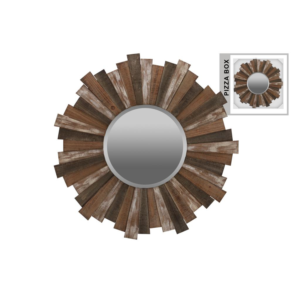Triangular Round Multi Colored Natural Washed Wall Mirror With Regard To Round Eclectic Accent Mirrors (View 17 of 30)