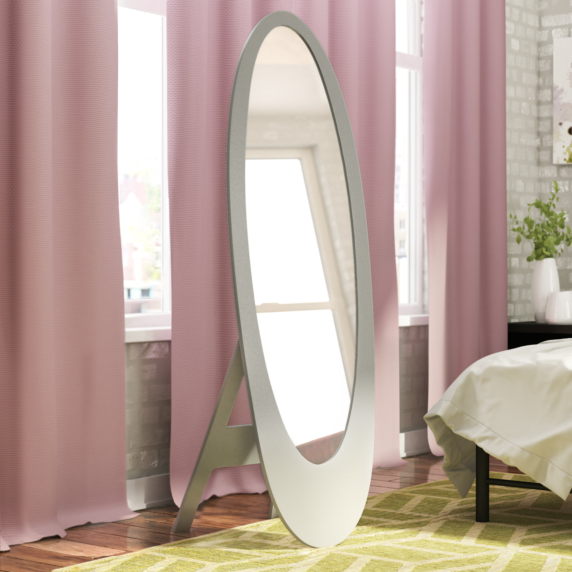 Trigg Contemporary Oval Cheval Mirror With Regard To Trigg Accent Mirrors (View 15 of 30)