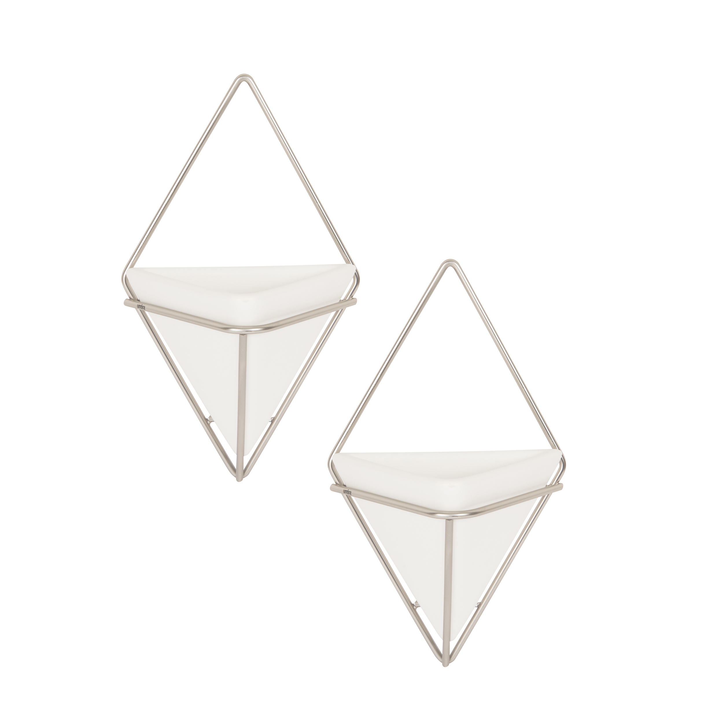 Trigg Hanging Planter Vase & Geometric Wall Decor Container inside 2 Piece Trigg Wall Decor Sets (Set of 2) (Image 14 of 30)