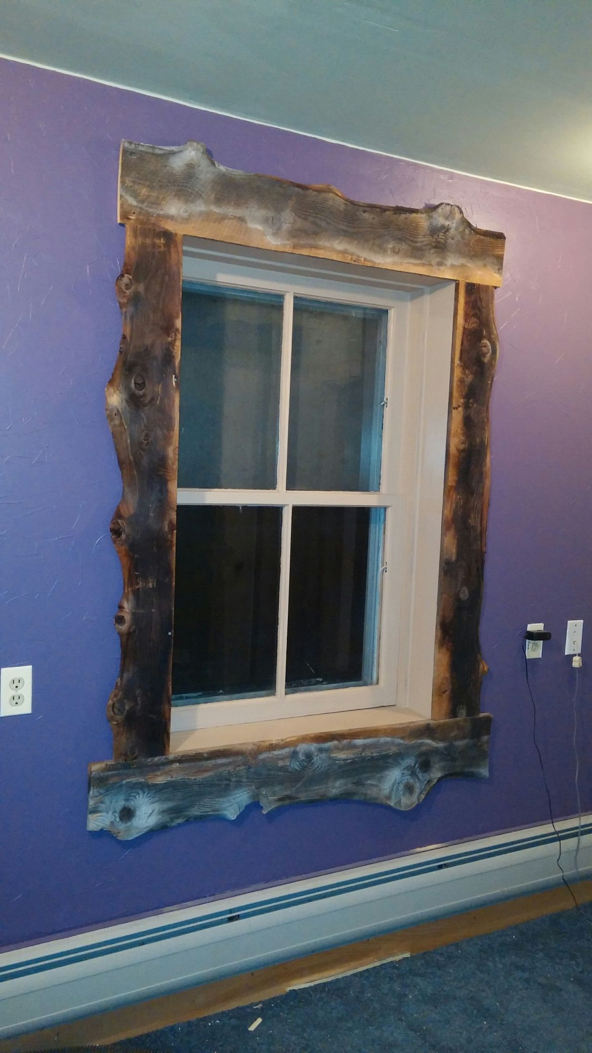 Trimmed Out The Window With Old Slab Barnwood. Lookin with regard to Old Rustic Barn Window Frame (Image 27 of 30)