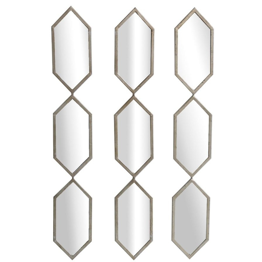 Triple Play Champaign Vertical Metal Mdf Wall Mirrors, Set with Pennsburg Rectangle Wall Mirror (Image 24 of 30)