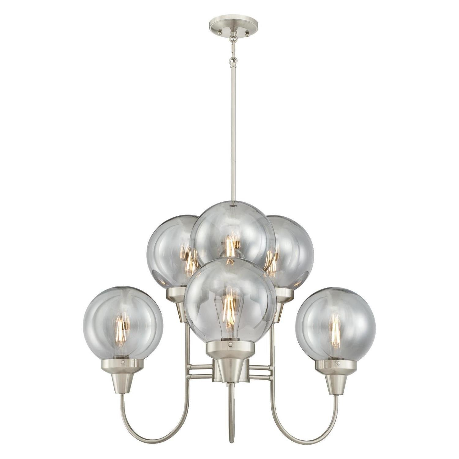 Tristin Indoor 6 Light Candle Style Chandelier With Millbrook 5 Light Shaded Chandeliers (View 16 of 30)