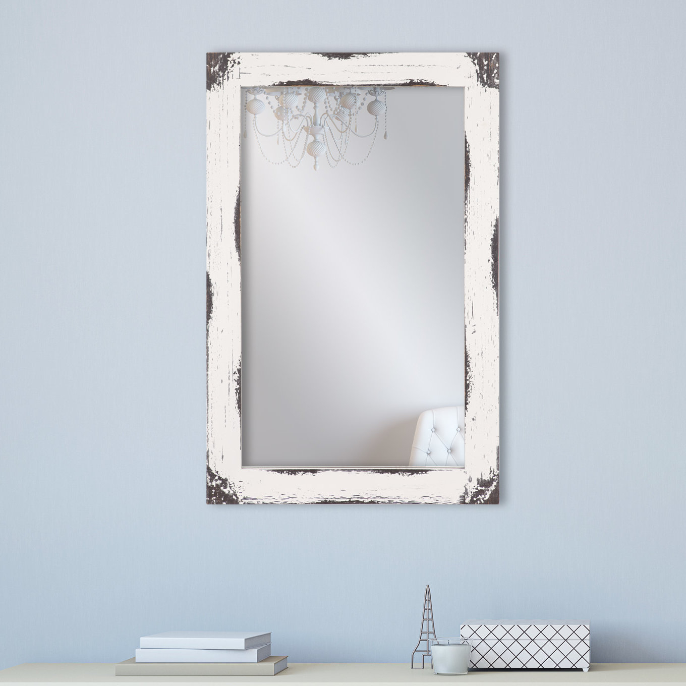 Tryphena Distressed Reclaimed Wall Mounted Mirror With Regard To Epinal Shabby Elegance Wall Mirrors (View 28 of 30)