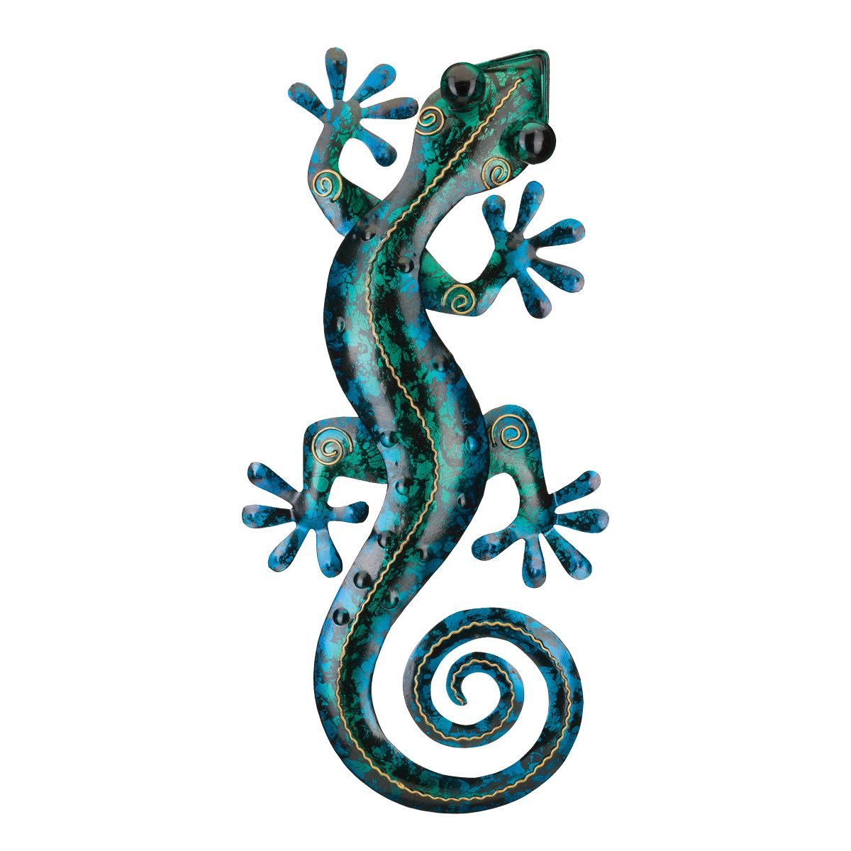 Turquoise Gecko Metal Wall Art – 19 Inch With Regard To Gecko Wall Decor (View 11 of 30)