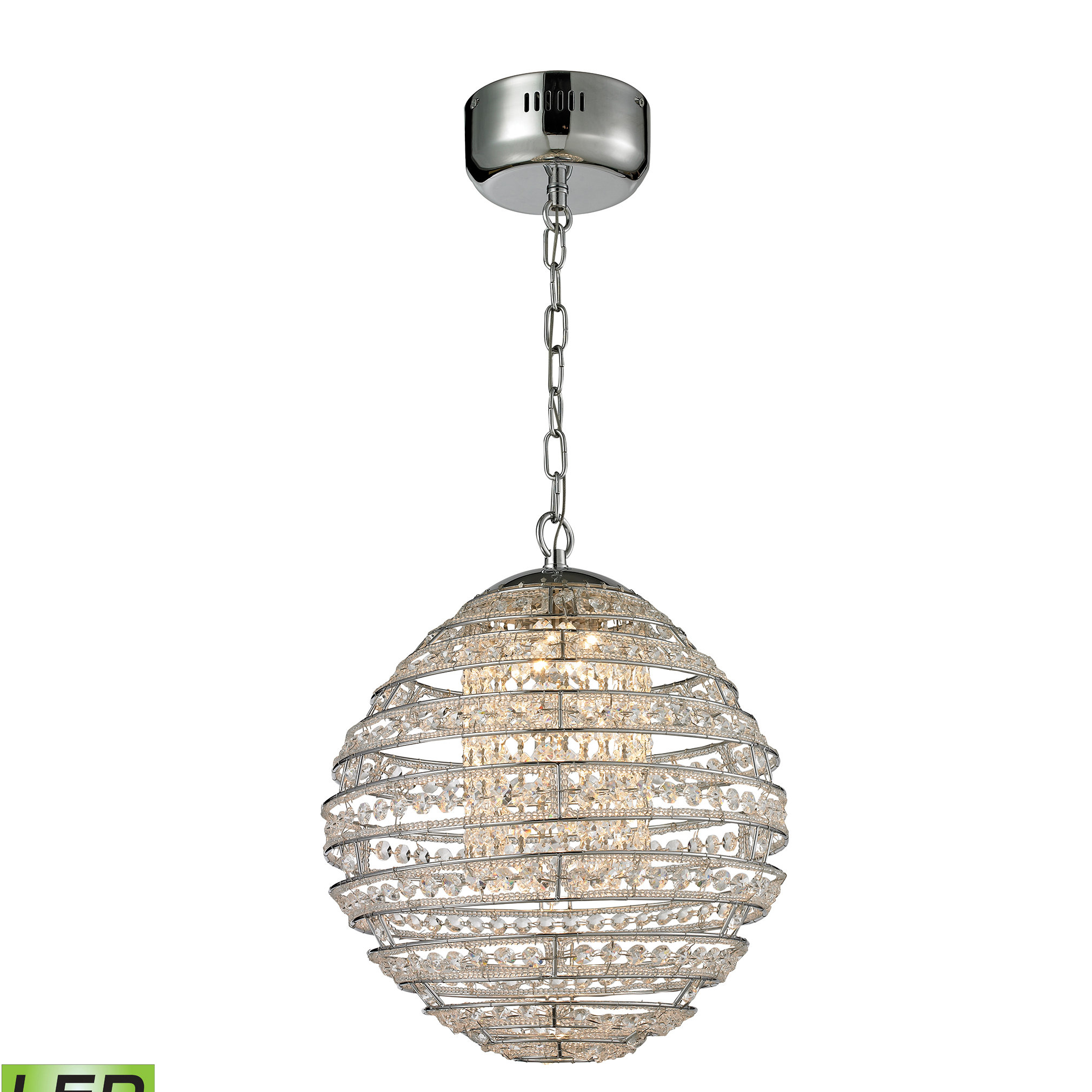 Tussey 1-Light Led Single Globe Pendant within Spokane 1-Light Single Urn Pendants (Image 30 of 30)