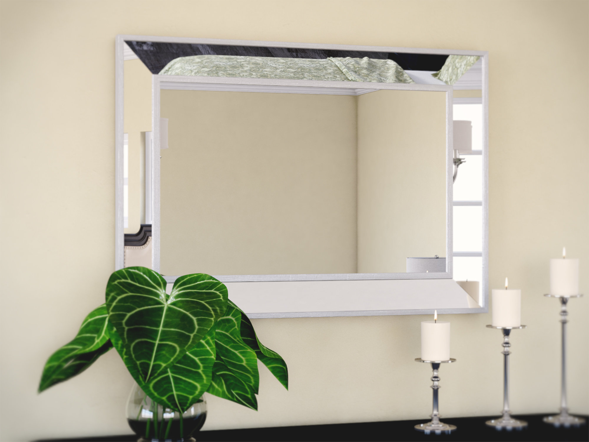 Tutuala Traditional Beveled Wall Mirror Within Traditional Metal Wall Mirrors (View 22 of 30)