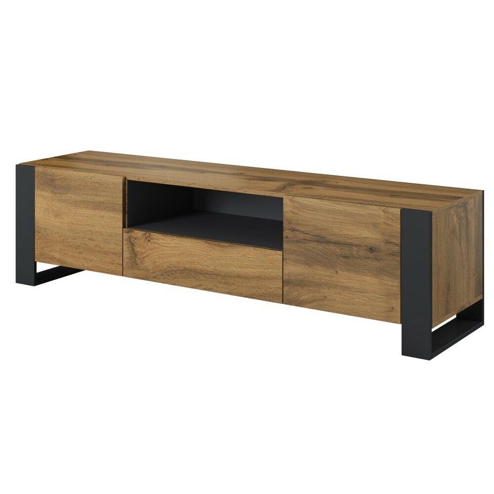 Tv Stand Wood 180 Cm Lowboard Schrank Schrank Schrank Tv for Stennis Sideboards (Image 29 of 30)