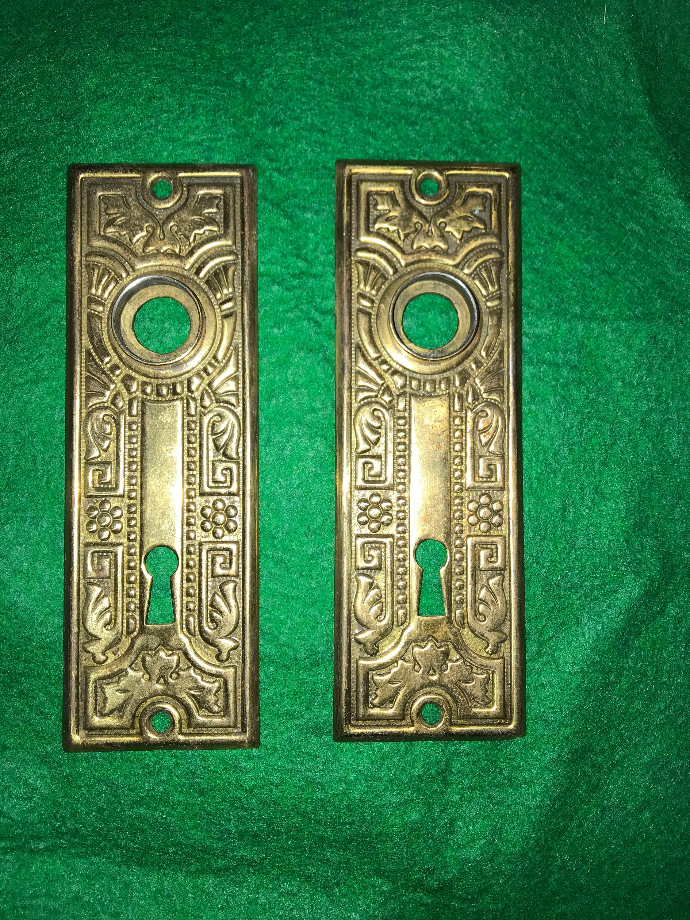 Two – Victorian Door Knob Lock Keyhole Plates Pertaining To Ammerman 1 Light Cone Pendants (Image 30 of 30)