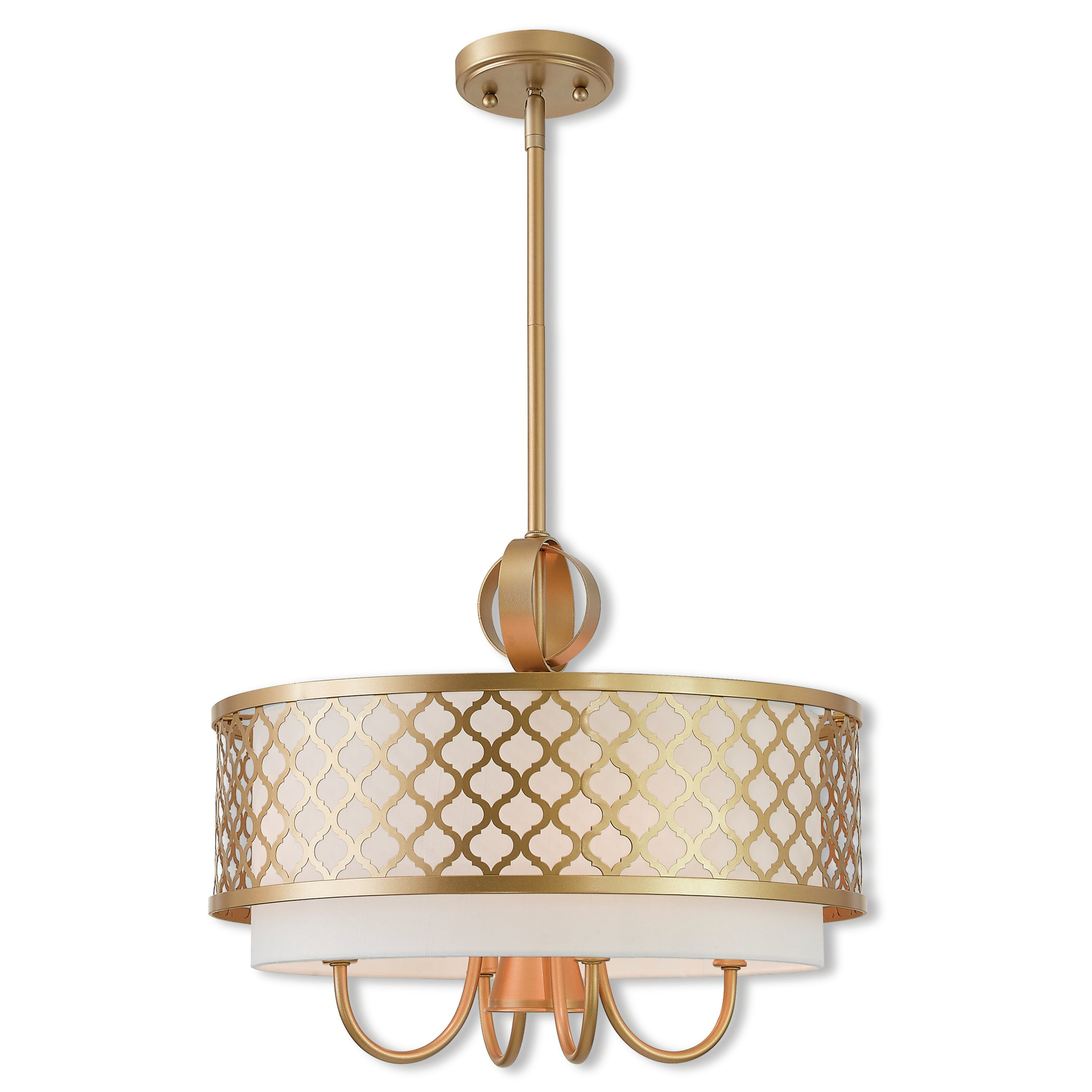 Tymvou 5-Light Drum Chandelier within Hermione 1-Light Single Drum Pendants (Image 27 of 30)