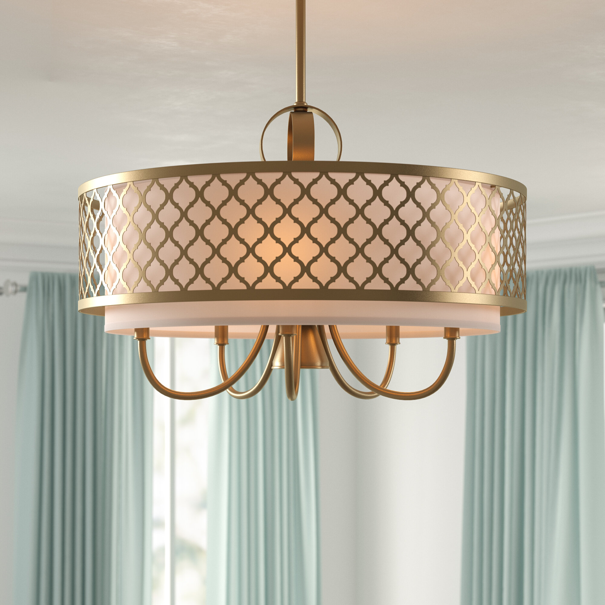 Tymvou 6 Light Drum Chandelier Pertaining To Wadlington 6 Light Single Cylinder Pendants (View 6 of 30)