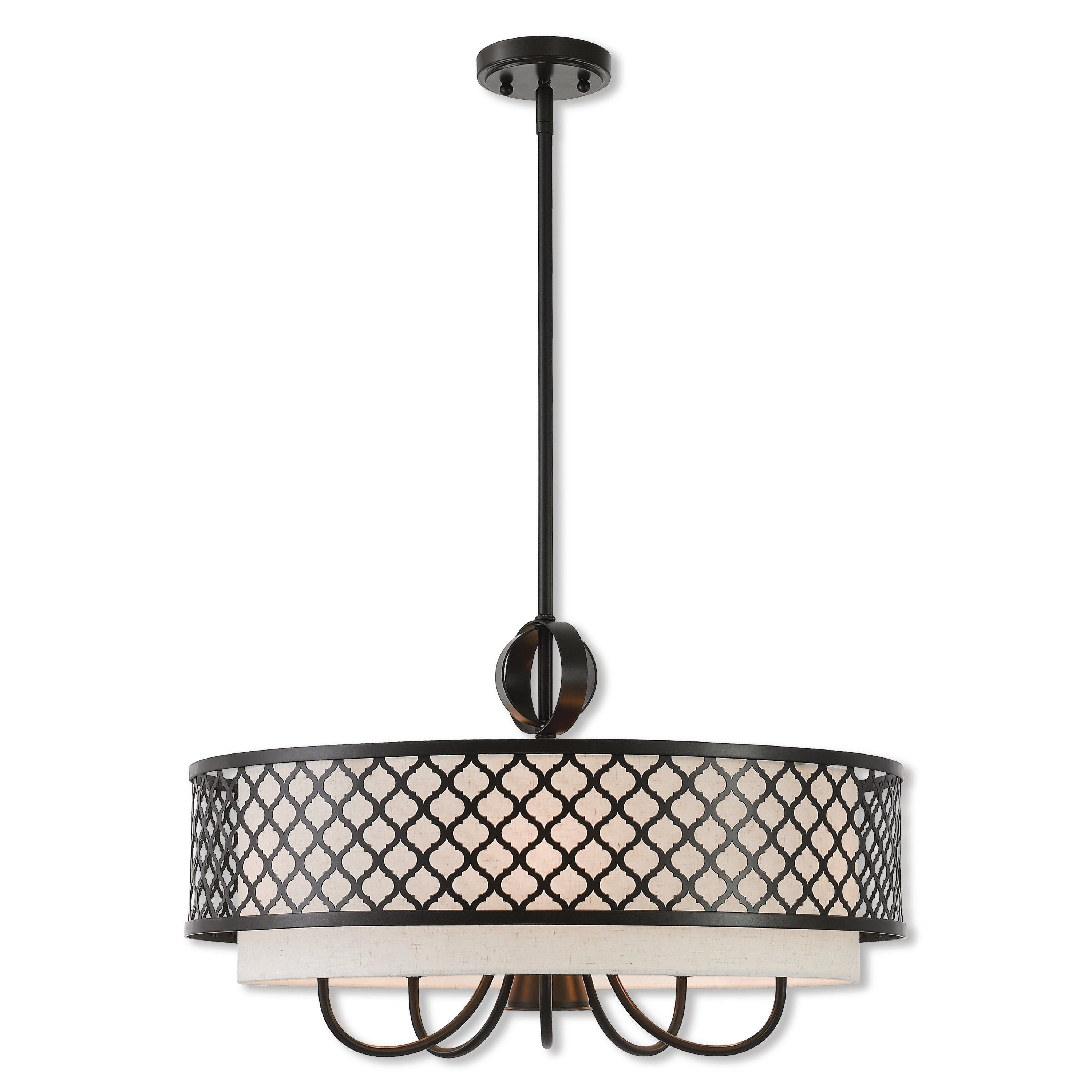 Tymvou 6 Light Drum Chandelier Regarding Wadlington 6 Light Single Cylinder Pendants (View 23 of 30)