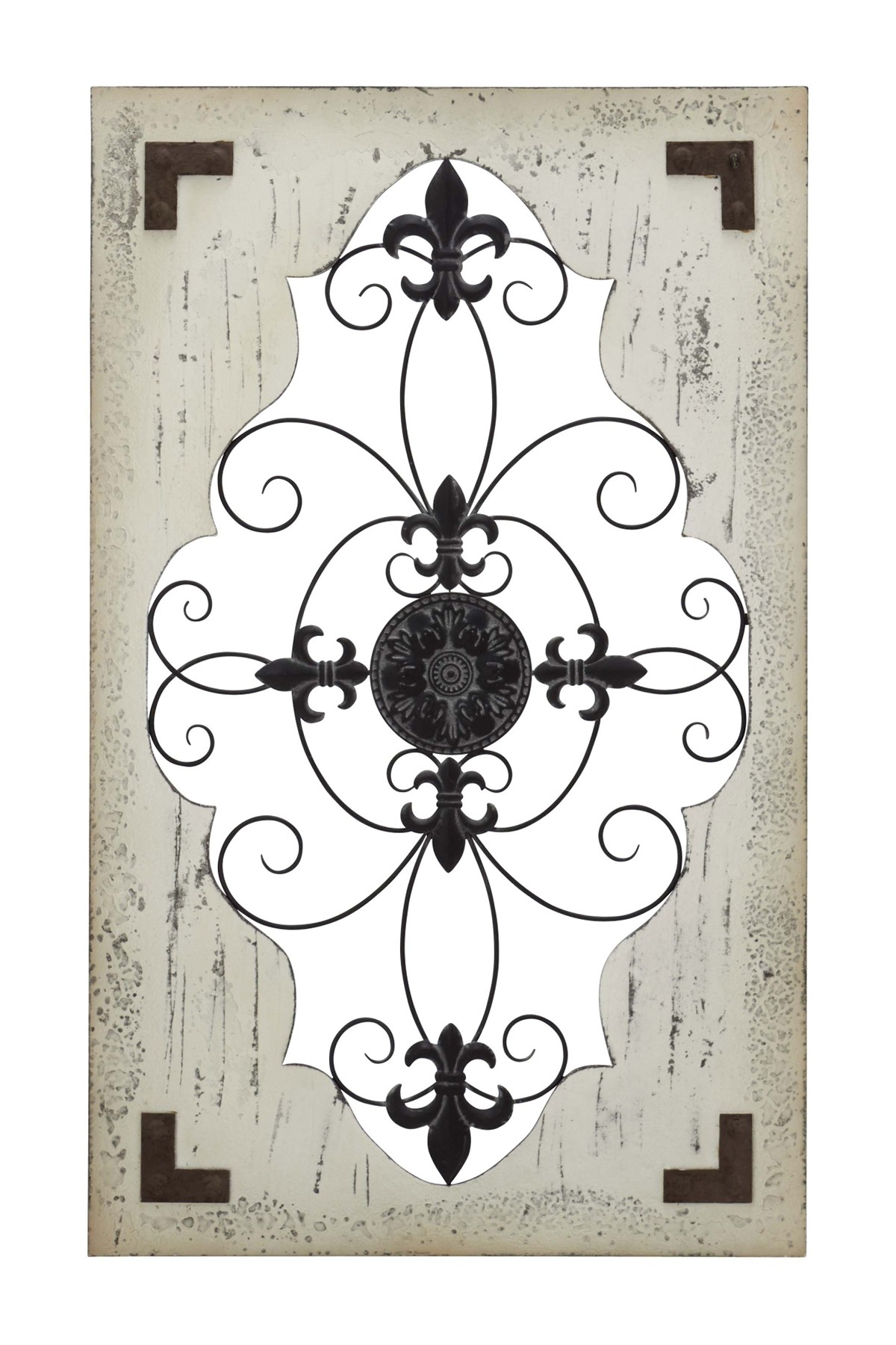 Uma | Rustic Wood And Iron Scroll And Fleur De Lis Framed Wall Decor |  Nordstrom Rack for Scroll Framed Wall Decor (Image 27 of 30)