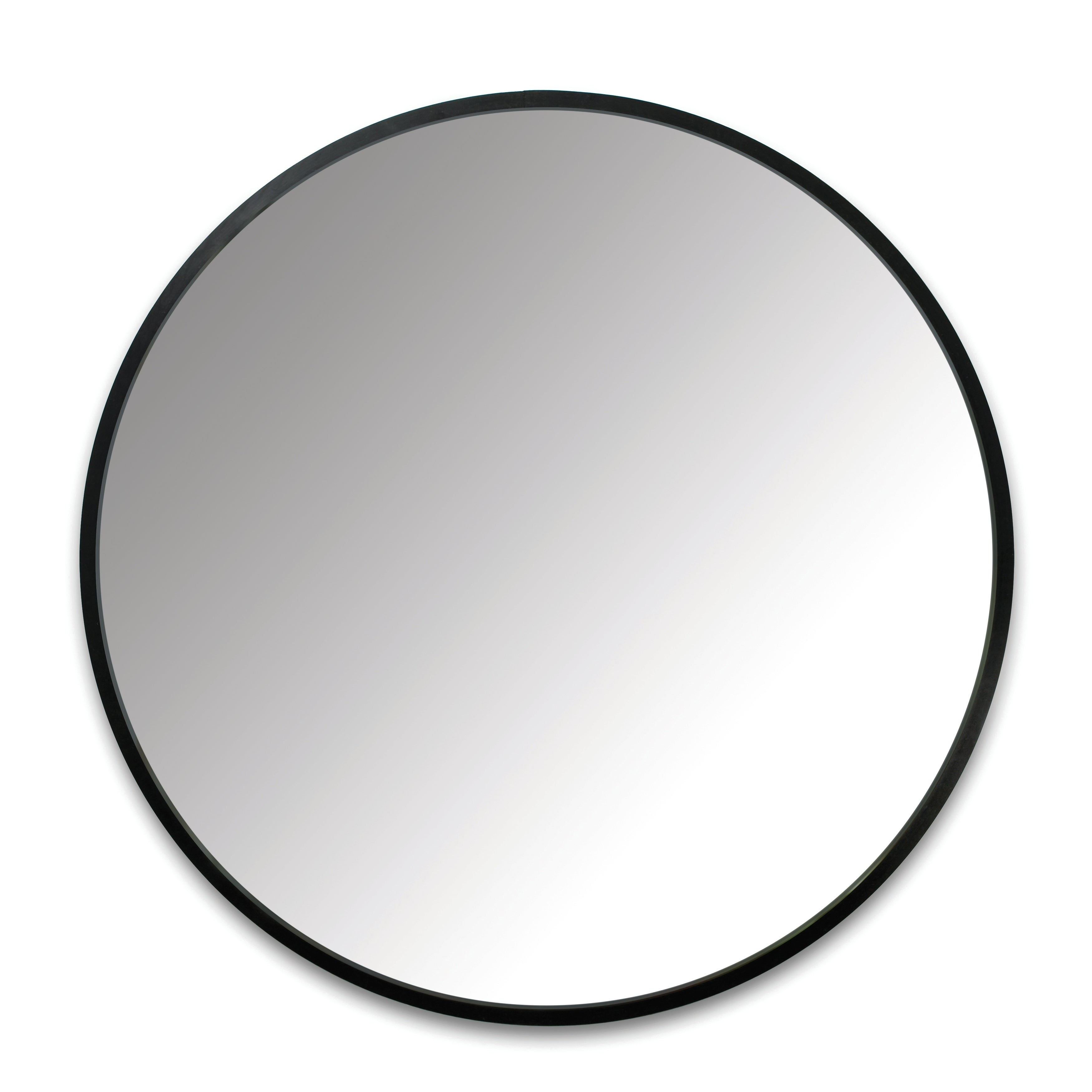 Umbra Hub 24 Inch Round Modern Wall Mount Mirror - 24"