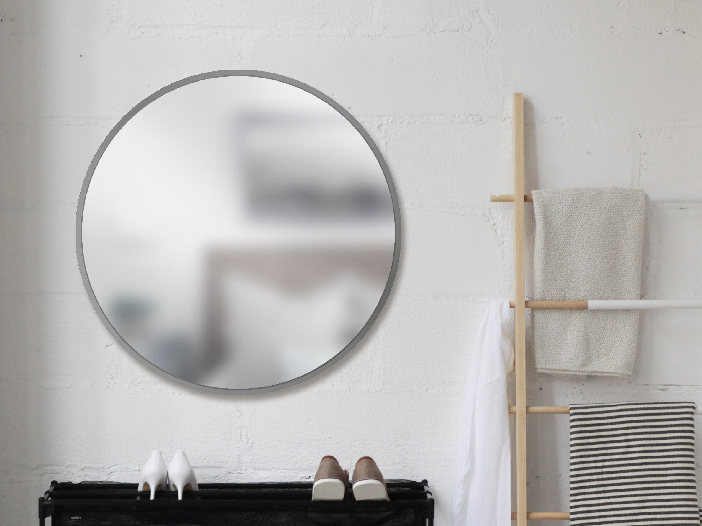 Umbra Hub Modern And Contemporary Accent Mirror Pertaining To Menachem Modern & Contemporary Accent Mirrors (Image 25 of 30)