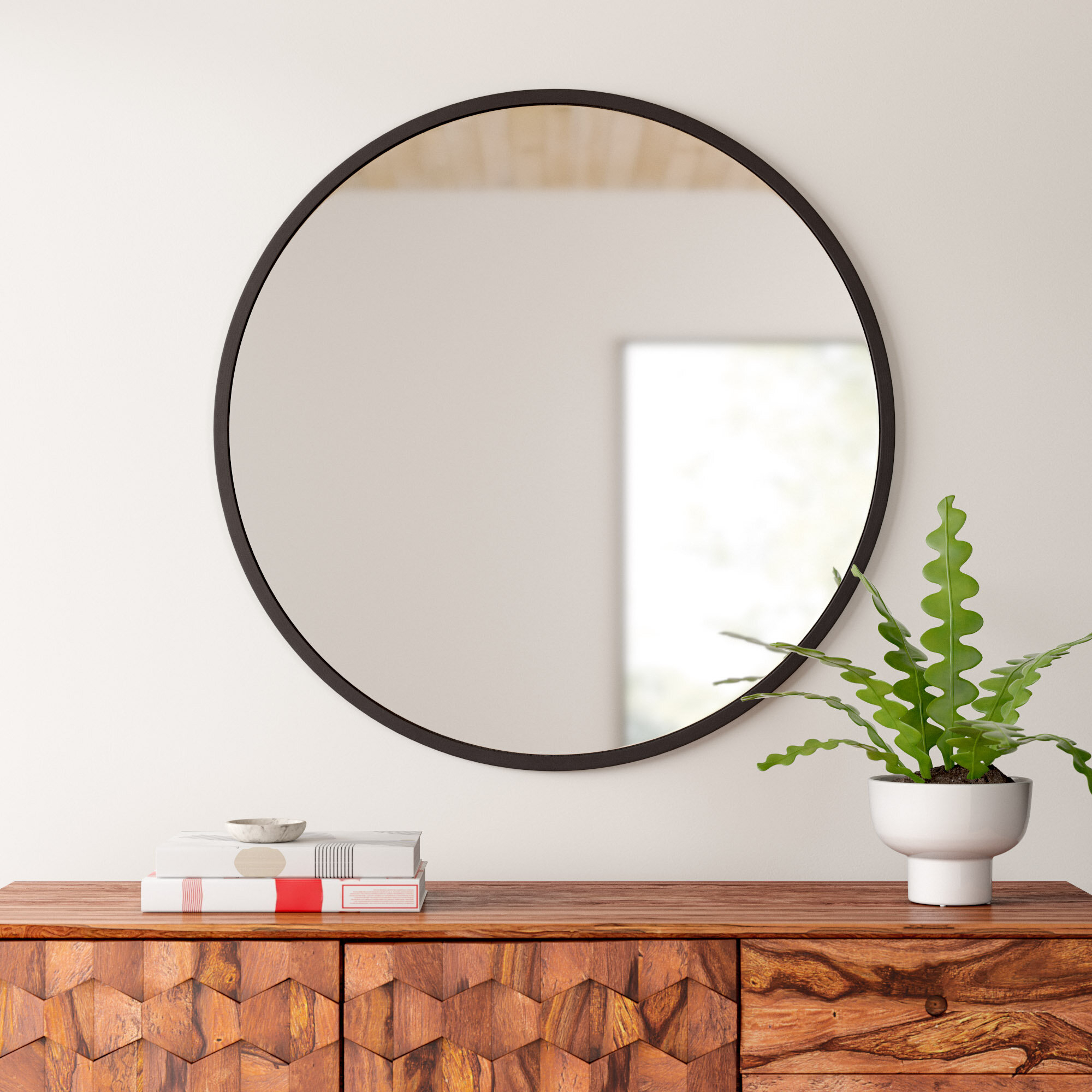 Umbra Hub Modern And Contemporary Accent Mirror With Menachem Modern & Contemporary Accent Mirrors (Image 26 of 30)