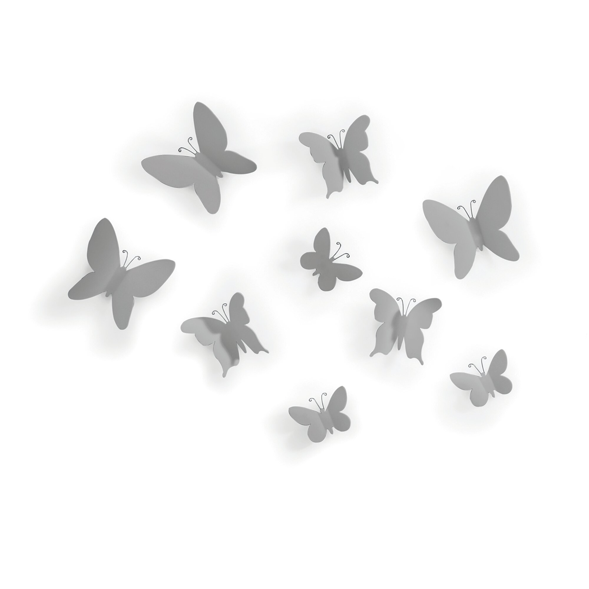 Umbra Mariposa 9 Piece Wall Decor Set with Mariposa 9 Piece Wall Decor (Image 24 of 30)