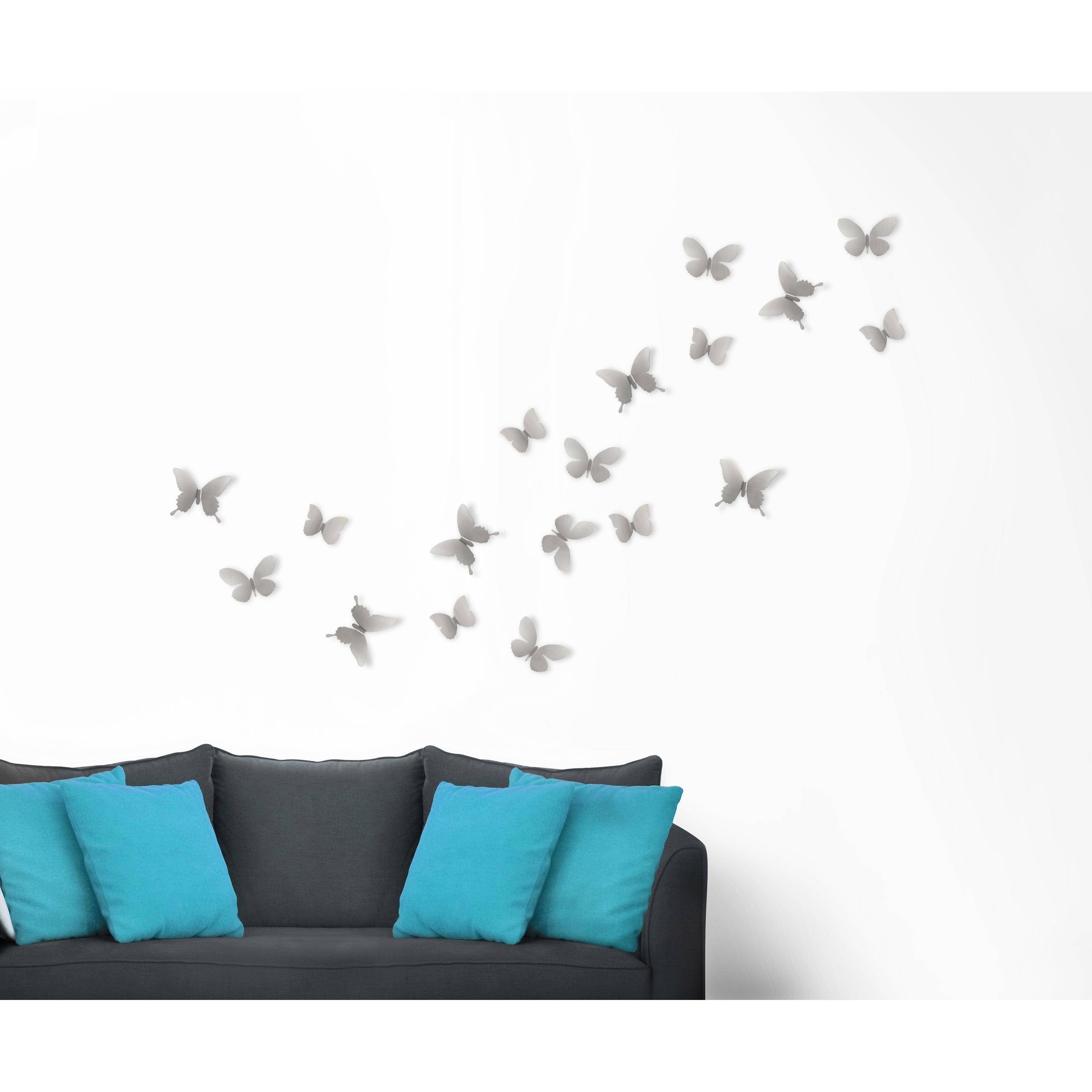 Umbra Mariposa Metal Wall Decor (Set Of 9) throughout Mariposa 9 Piece Wall Decor (Image 25 of 30)