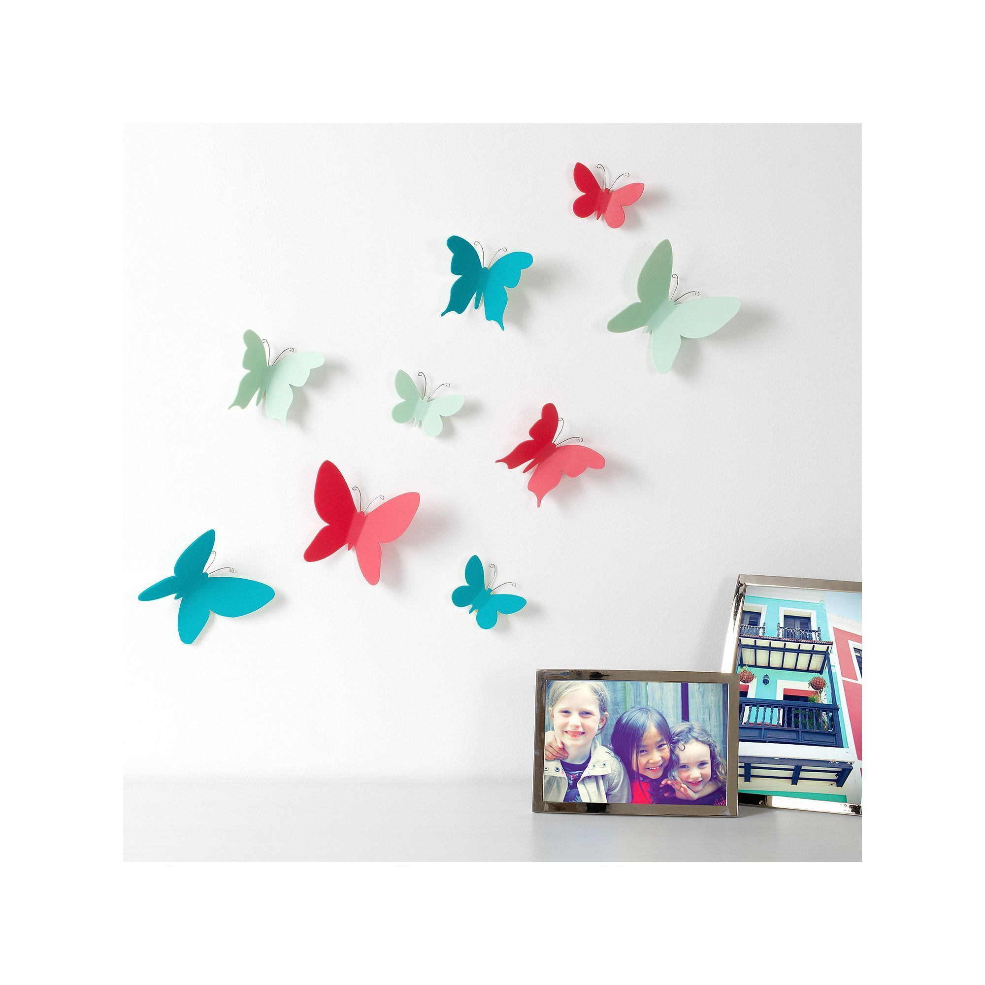 Umbra Mariposa Vibrant Butterfly Wall Decor | Products With Mariposa 9 Piece Wall Decor (View 26 of 30)