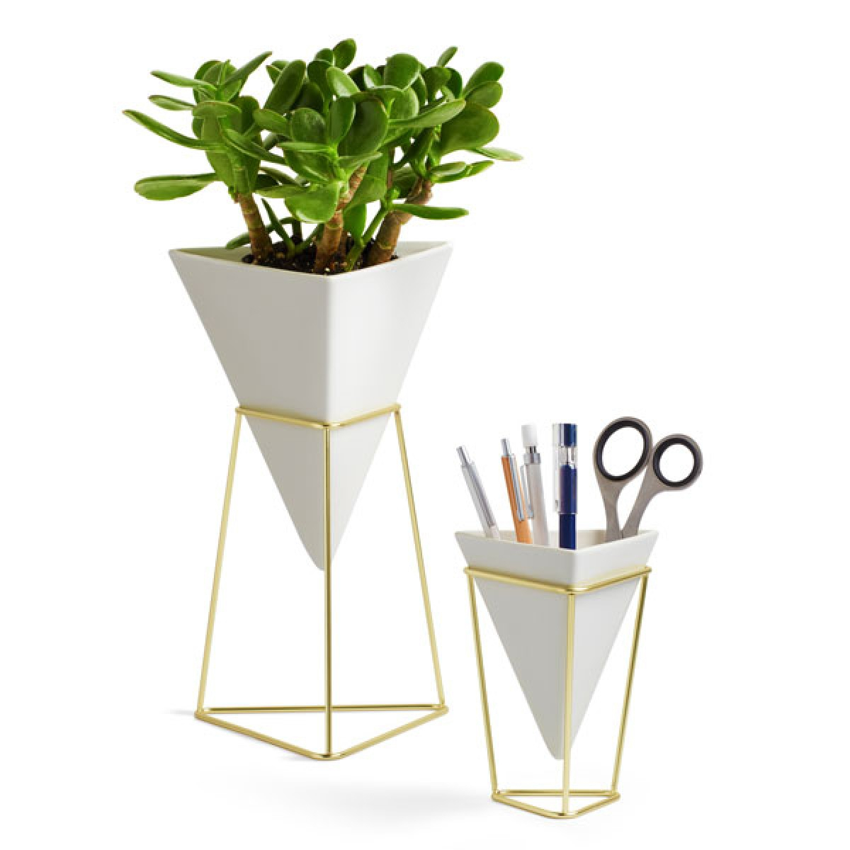 Umbra Trigg Desk Vessel - Set Of 2 intended for 2 Piece Trigg Wall Decor Sets (Set Of 2) (Image 20 of 30)