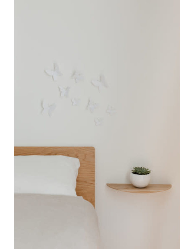 Umbra Wall Deco - Mariposa (White) regarding Mariposa 9 Piece Wall Decor (Image 28 of 30)