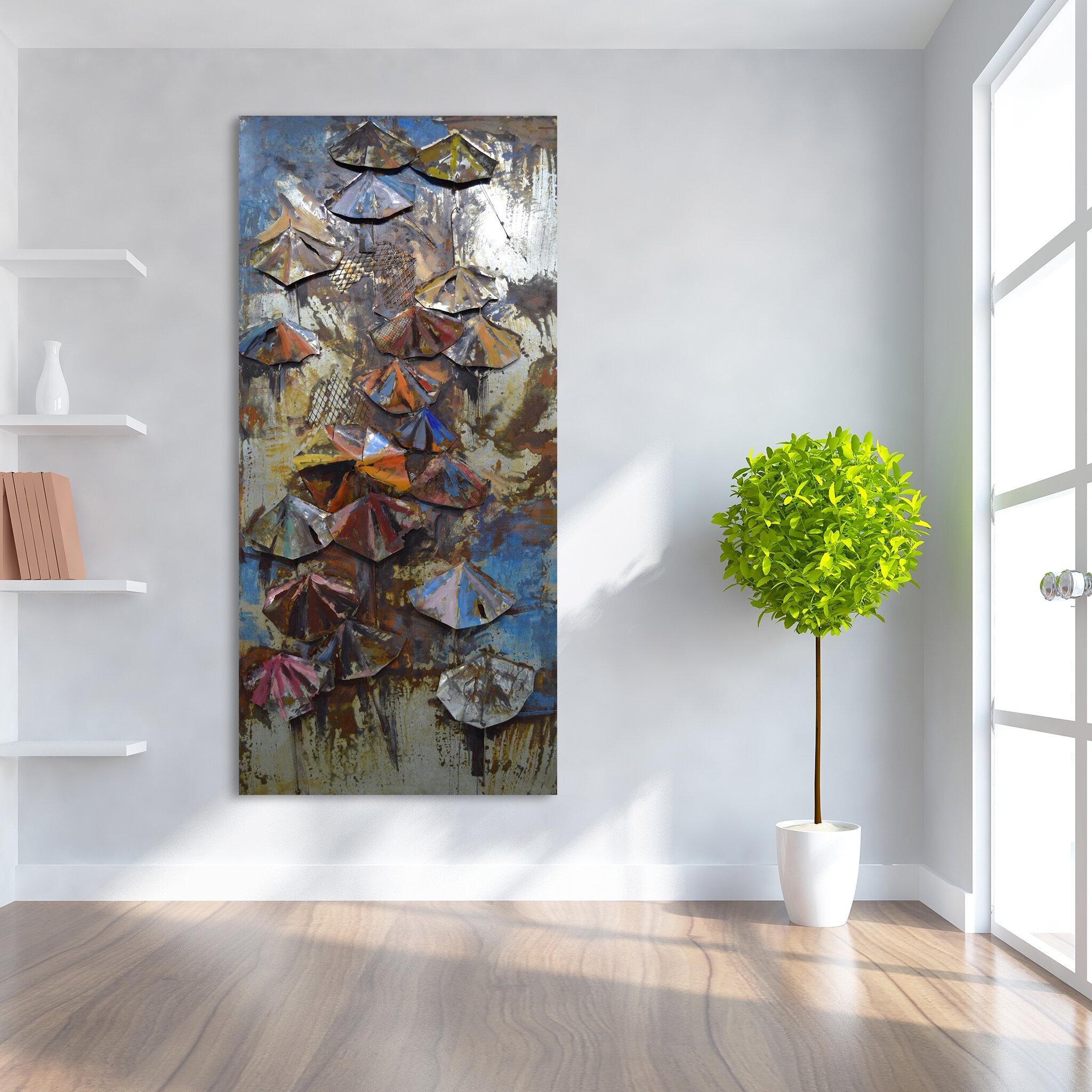 Umbrella Mariposa Wall Decor | Wayfair With Regard To Mariposa 9 Piece Wall Decor (View 29 of 30)