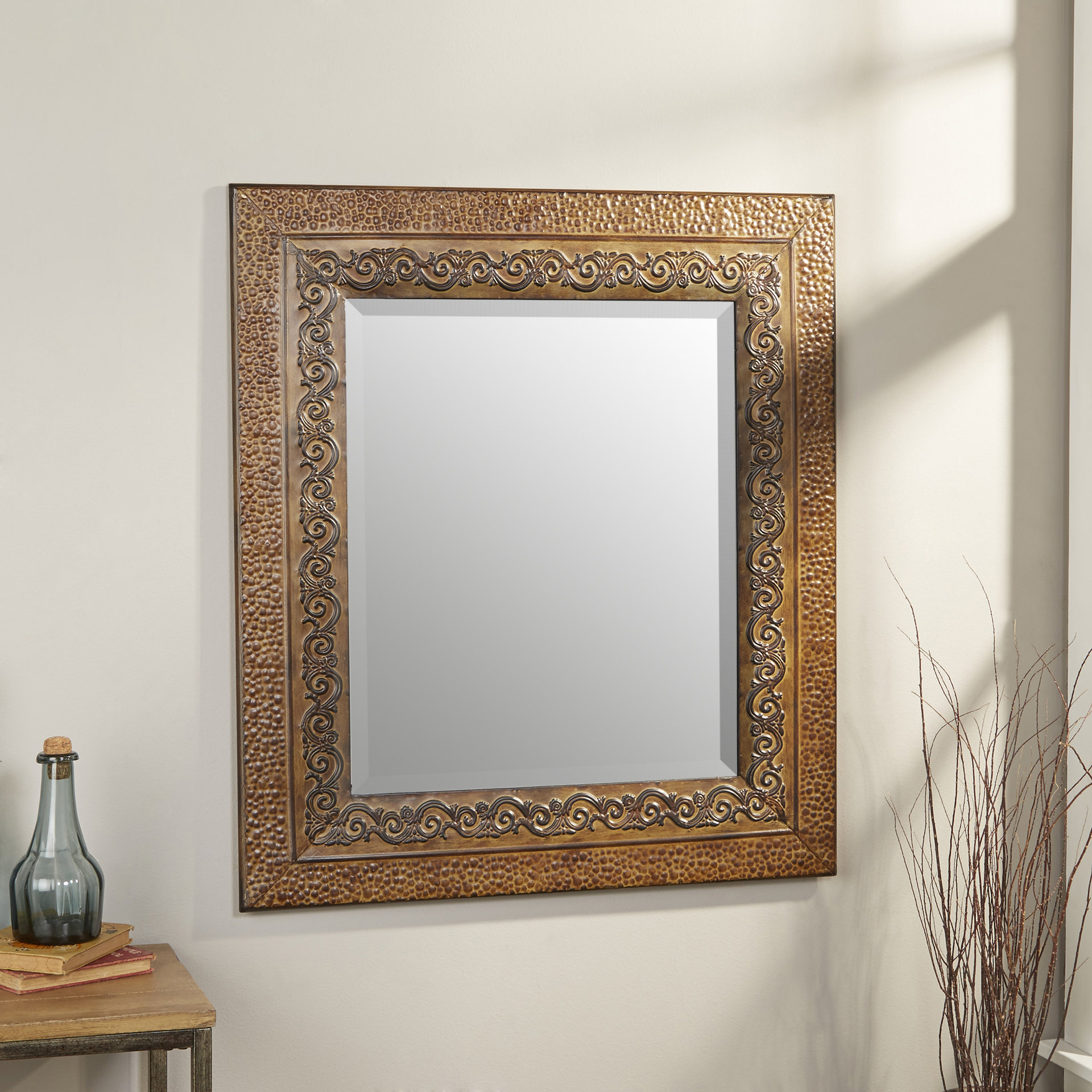 Union Rustic Longwood Rustic Beveled Accent Mirror | Birch Lane regarding Longwood Rustic Beveled Accent Mirrors (Image 26 of 30)