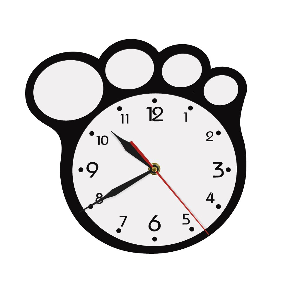 Us $13.34 11% Off|Bear Pride Art Clock Bear Paw Shape 3D Wall Clock Modern  Indoor Decoration Acrylic Clock Lovely Decorative For Kids-In Wall Clocks within American Pride 3D Wall Decor (Image 27 of 30)