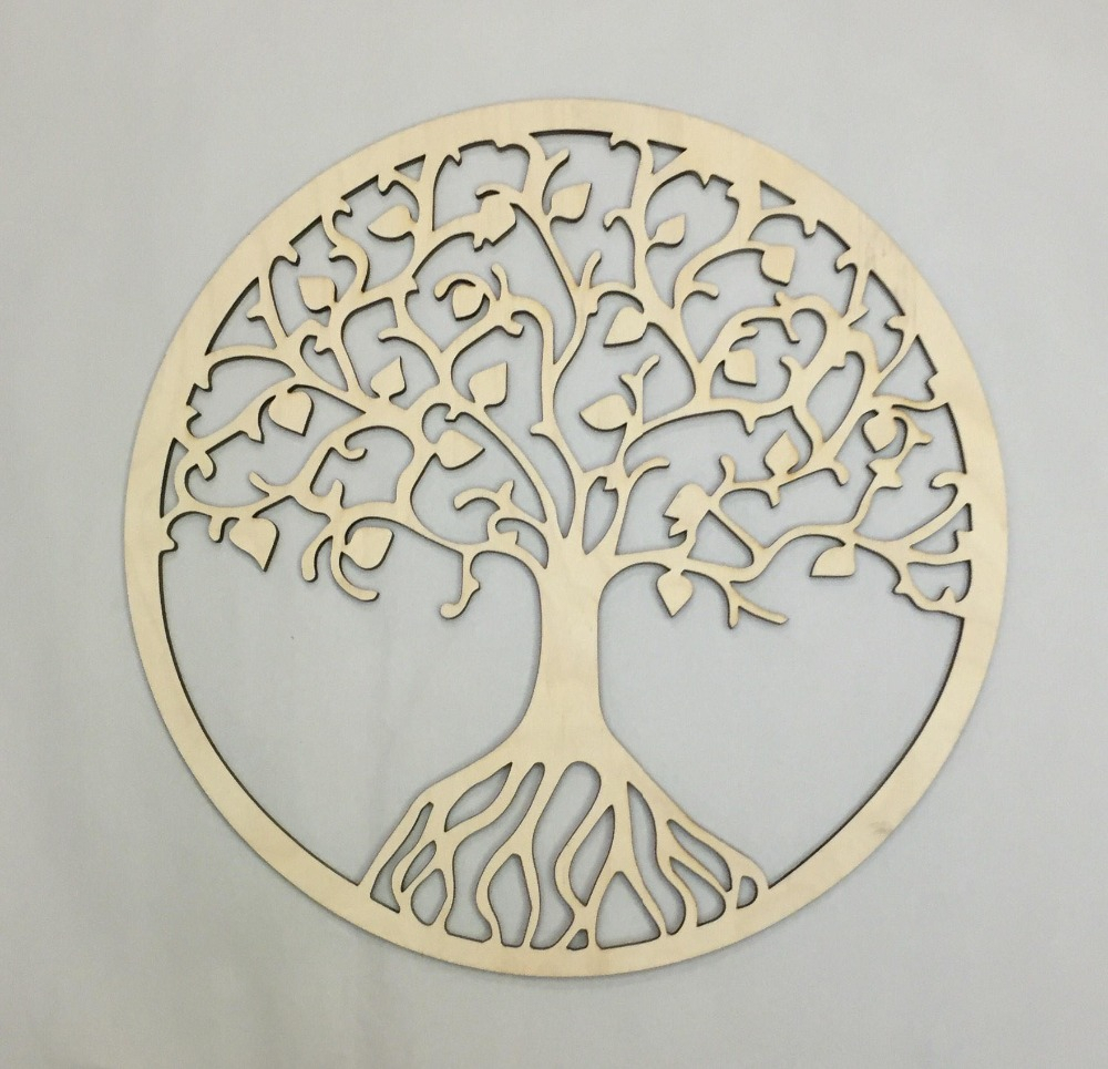 Us $13.34 11% Off|rustic Wooden Tree Of Life Wall Decor, Party Photo Booth Props, Bedroom Sign, Dorm Wall Decor (View 3 of 30)
