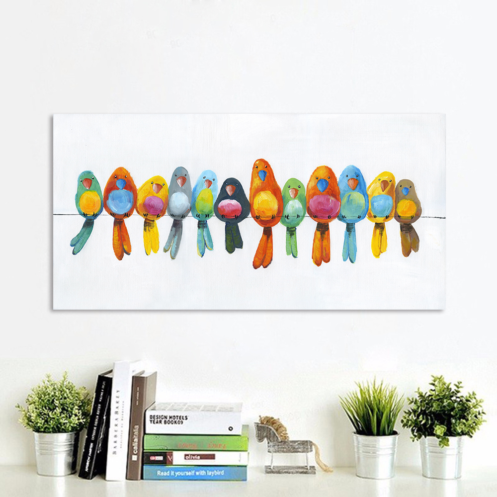 Us $13.57 Aavv Wall Art Canvas Painting Animal Picture in Birds On A Wire Wall Decor (Image 25 of 30)