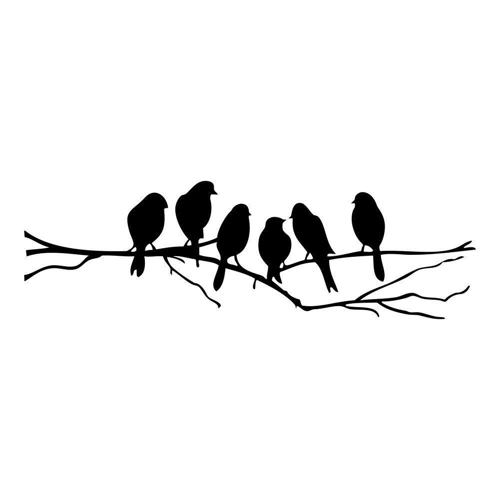 Us $2.23 9% Off|Practical Birds On A Wire Wall Stickers Birds Wall Stickers  Quote Vinyl Wall Sticker Sitting Room Sofa Wall Bedroom Art Decora-In Wall intended for Birds On A Wire Wall Decor (Image 26 of 30)