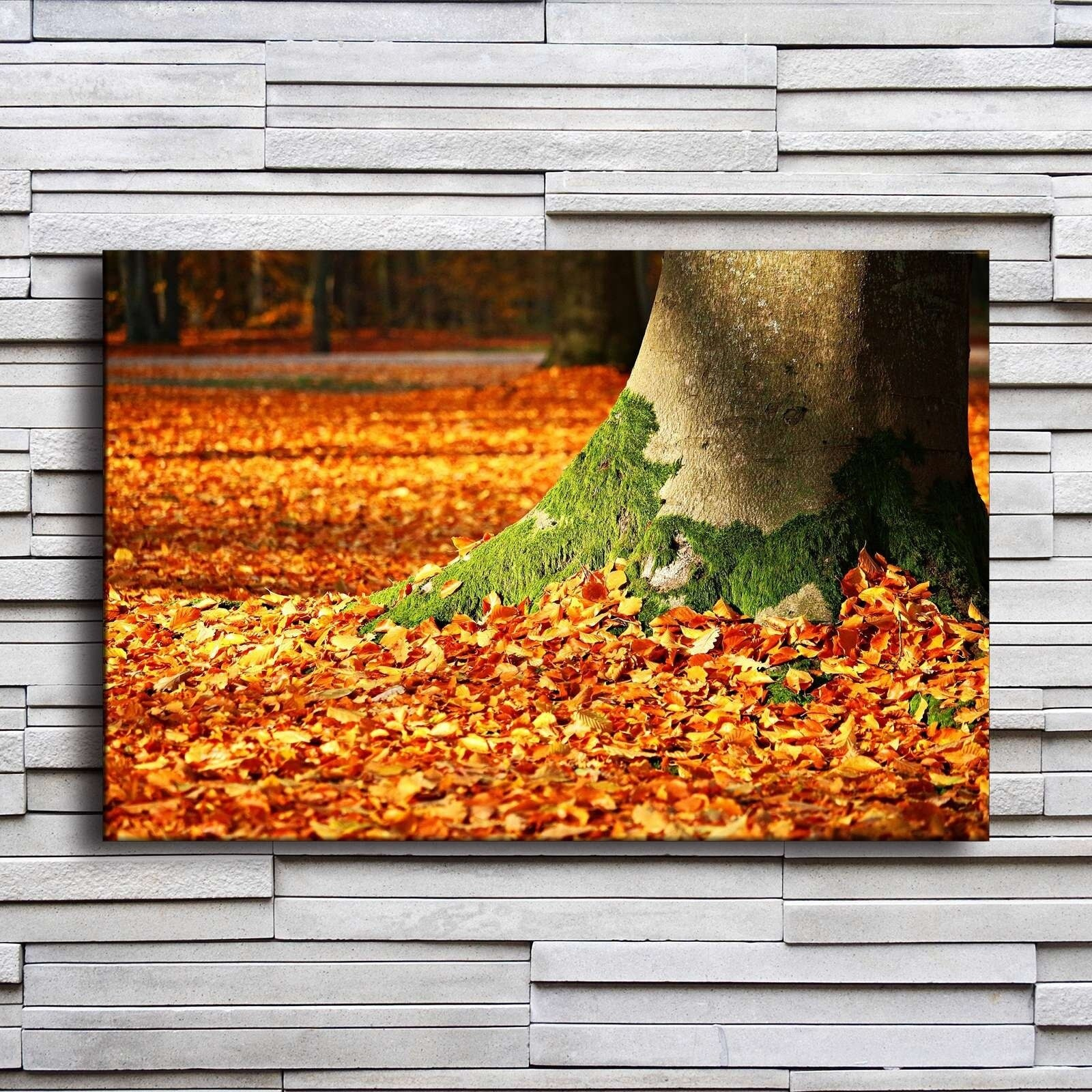 Us $2.5 47% Off|Home Decor Canvas Painting Wall Art 1 Piece Autumn Forest  Fall Blowing Leaves Tree Trunk Pictures Prints Poster For Living Room-In inside Blowing Leaves Wall Decor (Image 28 of 30)