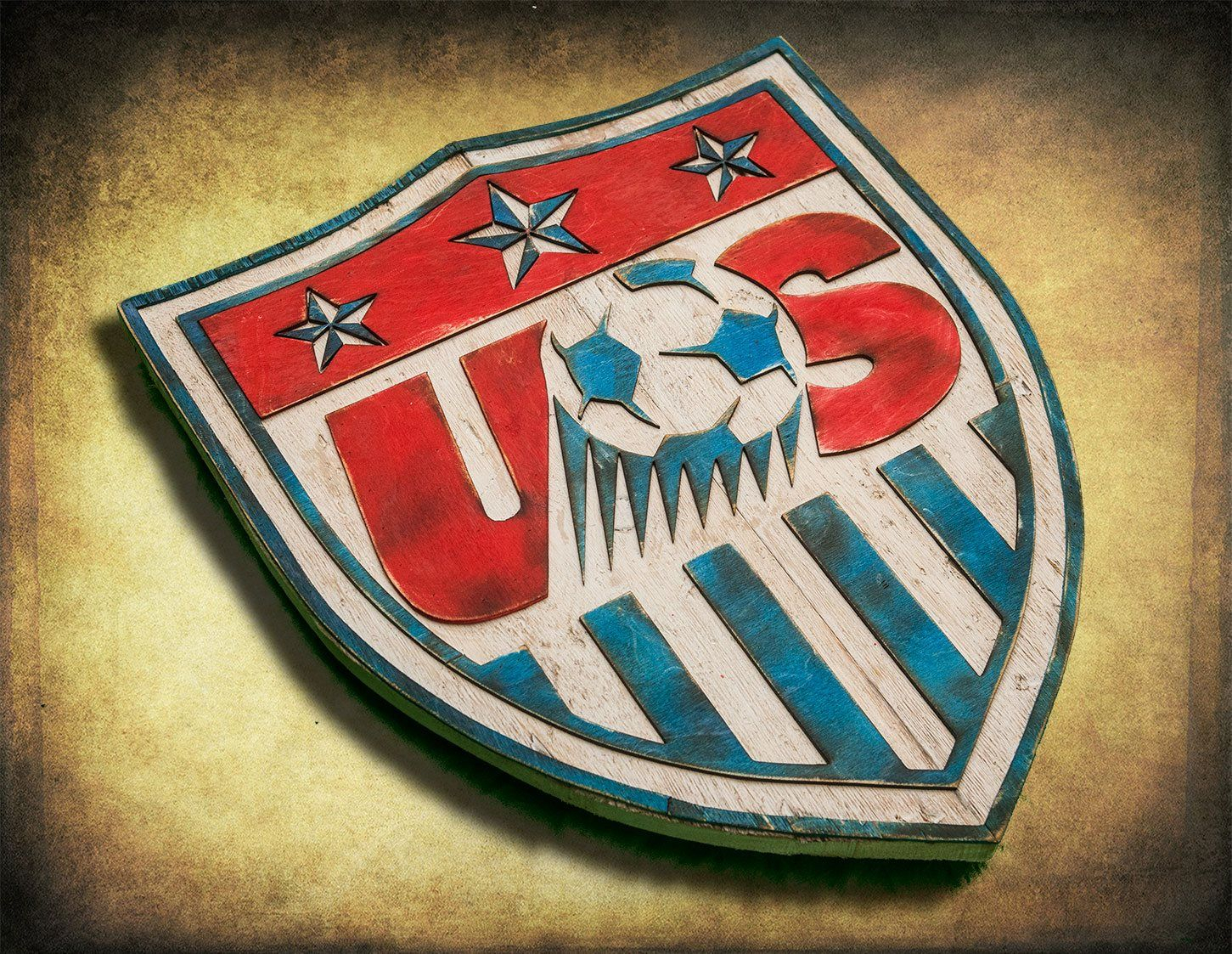 Us Soccer Team Wooden Handmade 3-D Wall Art Show Your Sports regarding American Pride 3D Wall Decor (Image 28 of 30)