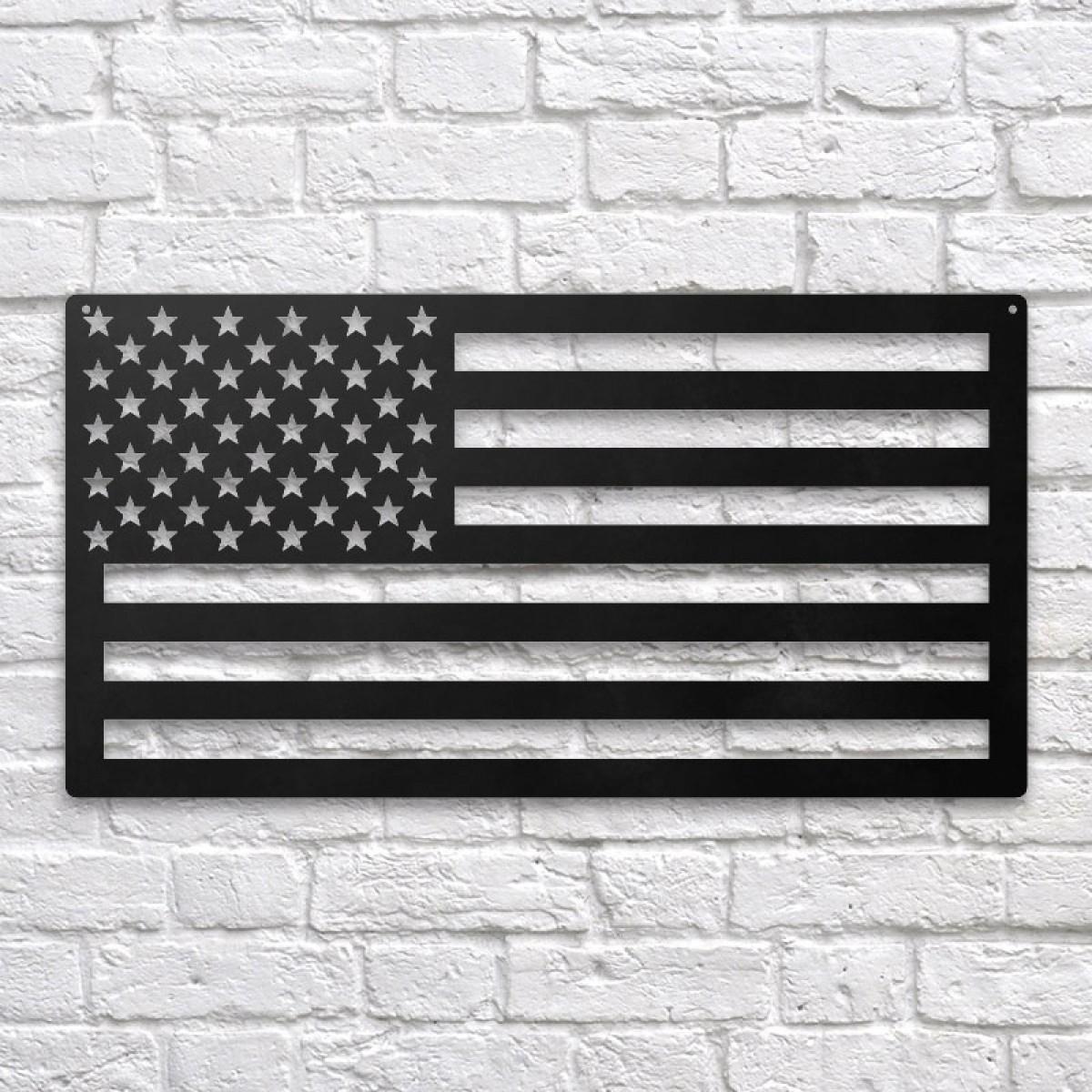 Usa Flag Metal Wall Art Throughout American Flag 3D Wall Decor (Image 27 of 30)
