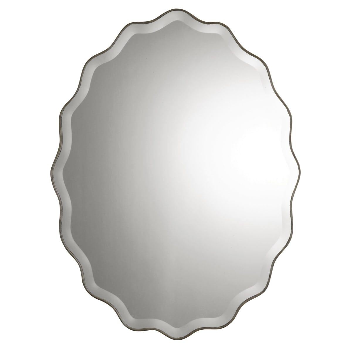 Uttermost 12704 B In 2019 | Bathroom | Oval Mirror, Mirror Pertaining To Estefania Frameless Wall Mirrors (View 27 of 30)