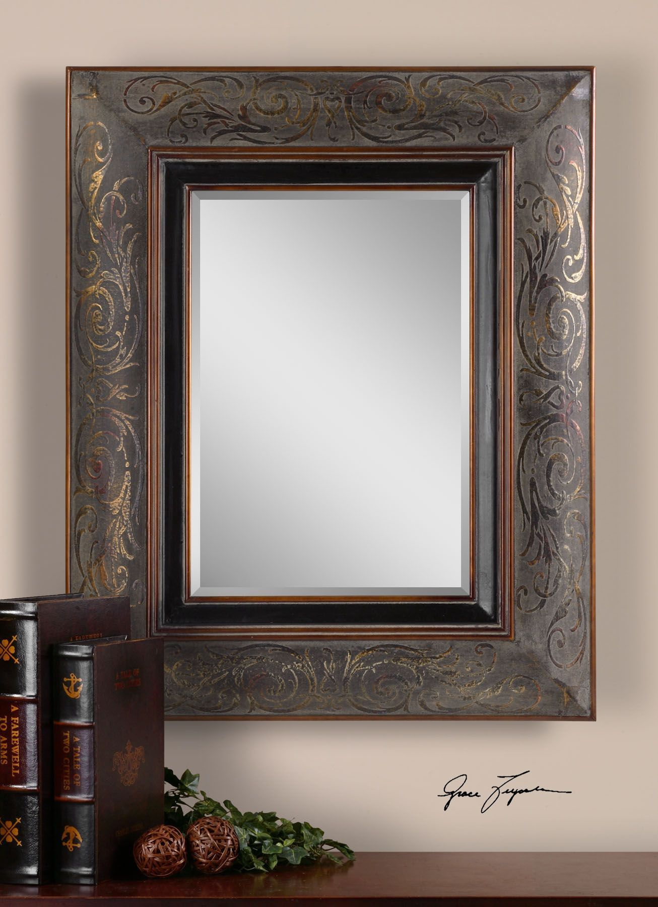 Uttermost Bovara Rustic Bronze Mirror | Products | Bronze Intended For Maude Accent Mirrors (View 22 of 30)