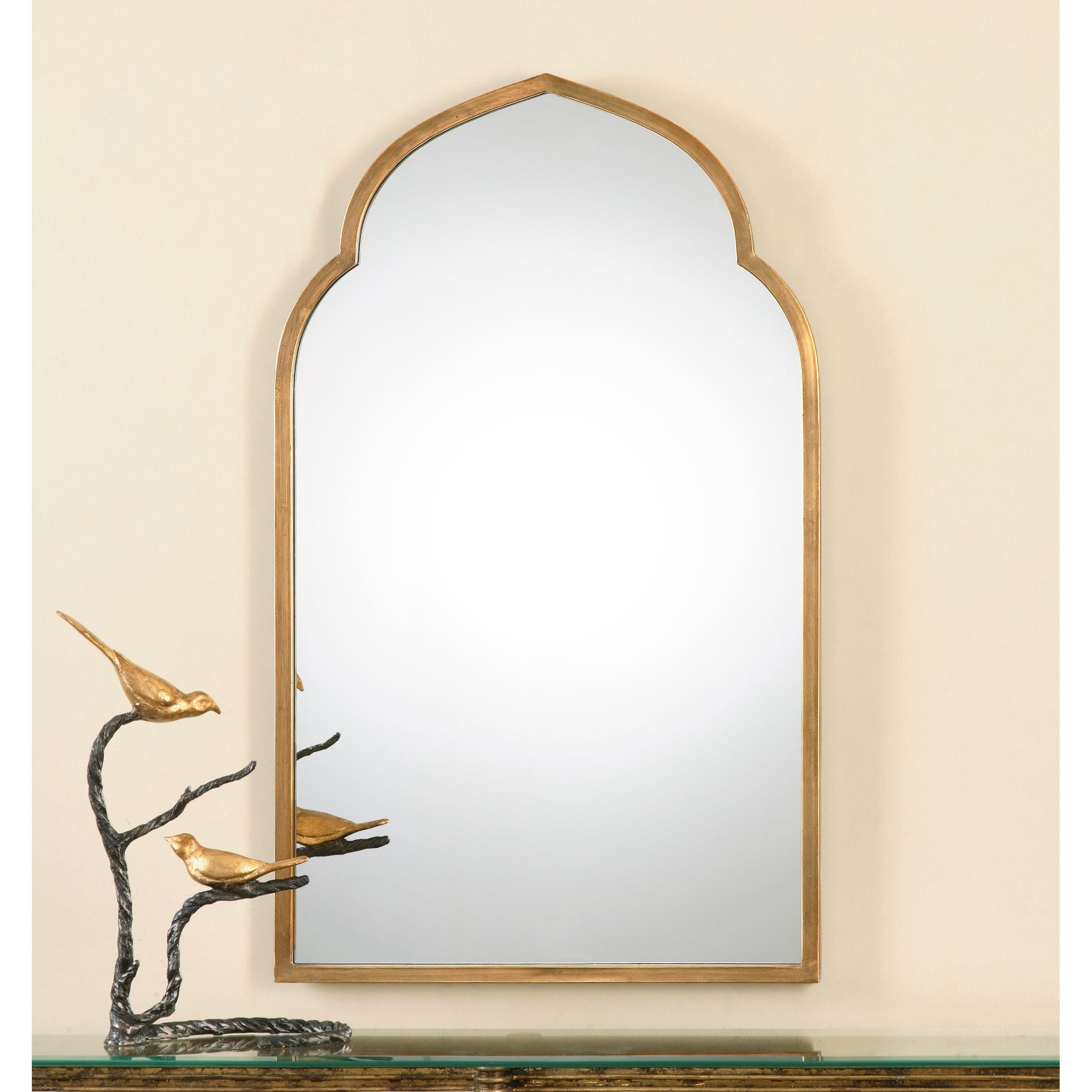 Uttermost Kenitra Gold Arch Decorative Wall Mirror - Antique Silver -  24X40X1.125 throughout Arch Vertical Wall Mirrors (Image 26 of 30)