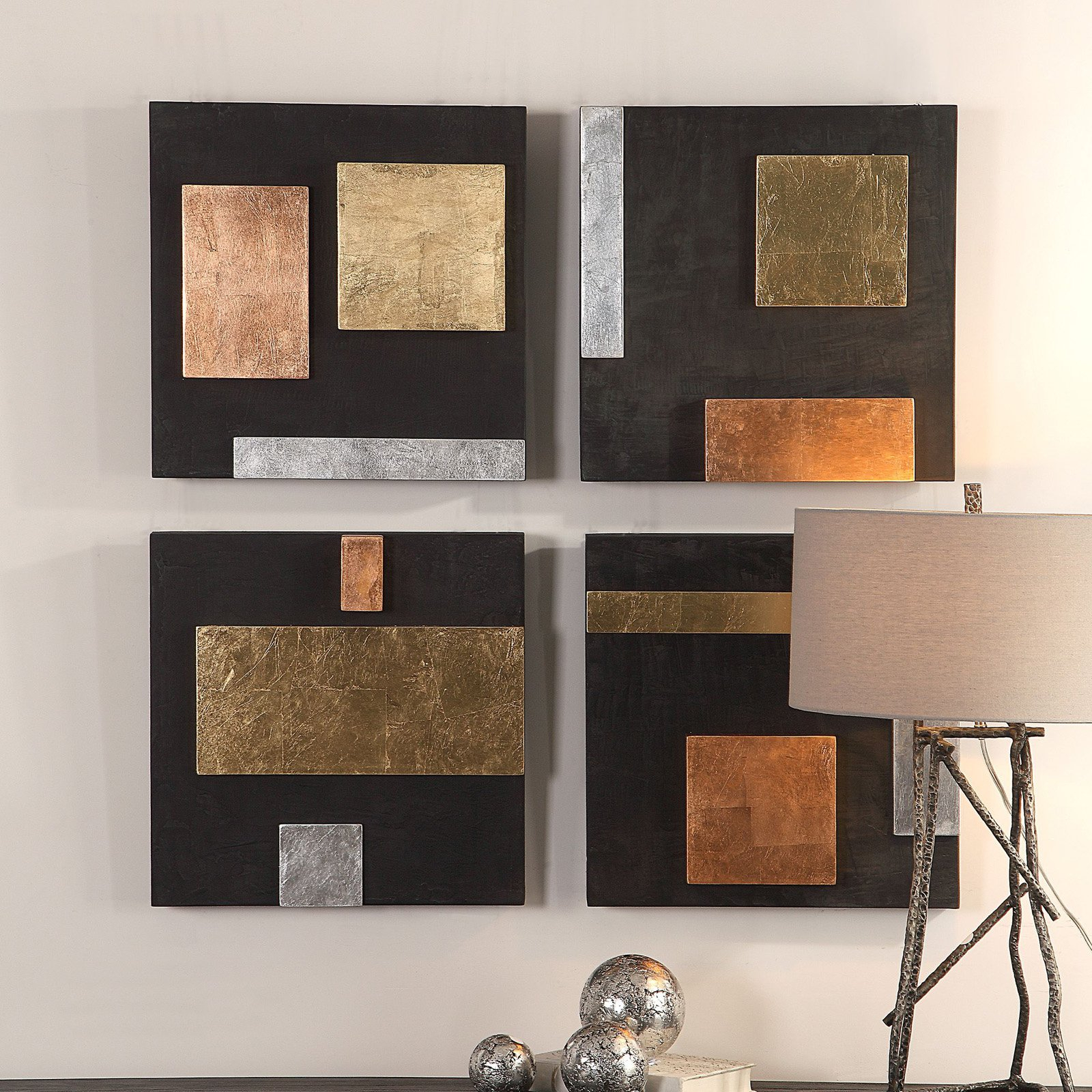 Uttermost Mixed Metals Wall Art – Set Of 4 | Products In Pertaining To 4 Piece Metal Wall Decor Sets (View 16 of 30)