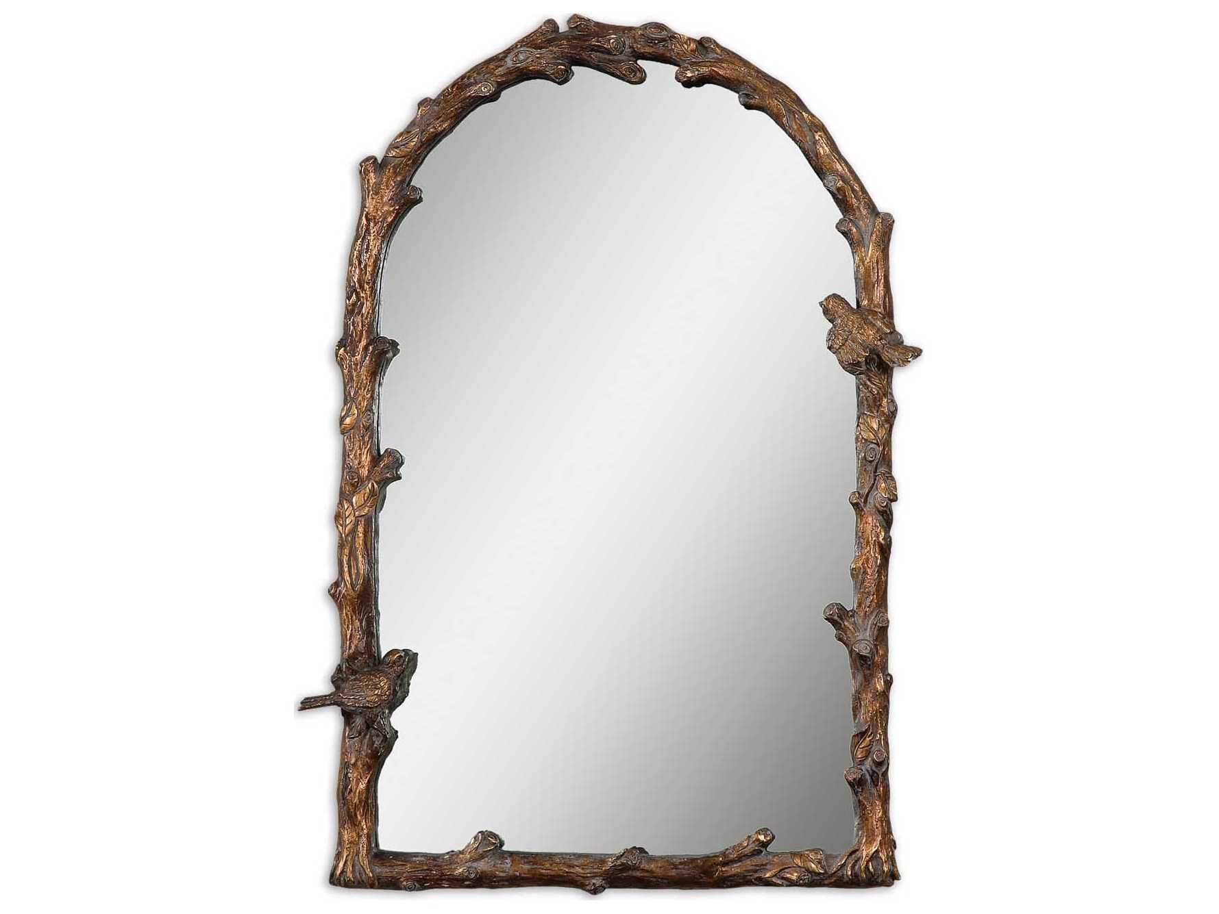 Uttermost Paza 26 X 37 Antique Gold Arch Wall Mirror With Regard To Gold Arch Wall Mirrors (View 29 of 30)